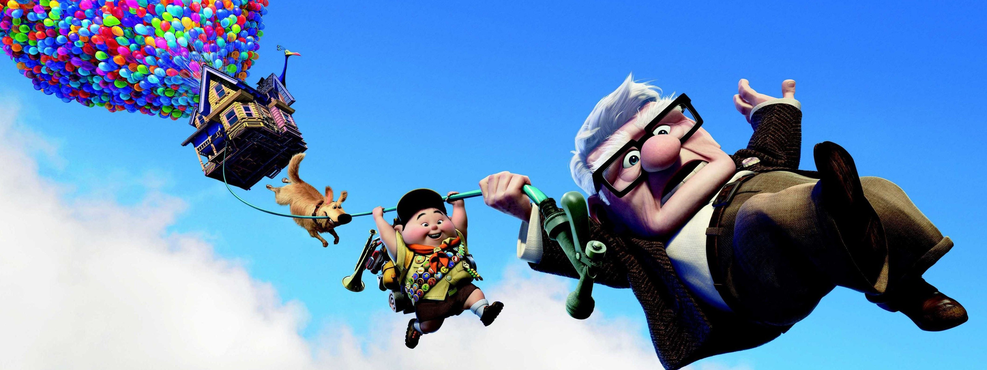 3200x1200 Pixar's UP Dual Monitor HD Wallpapers