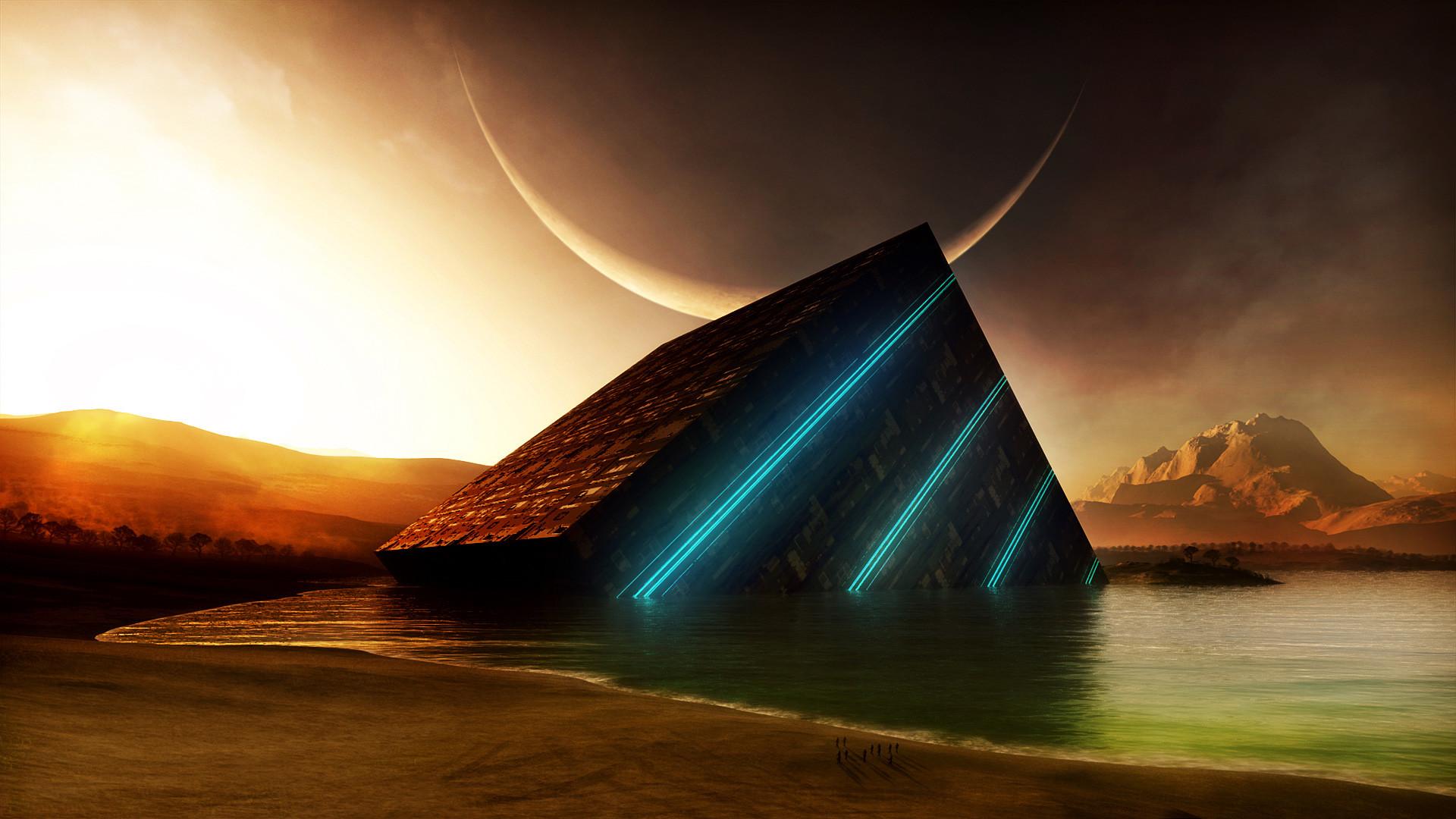 1920x1080 Sci Fi Landscape Wallpaper Desktop Background Tdj