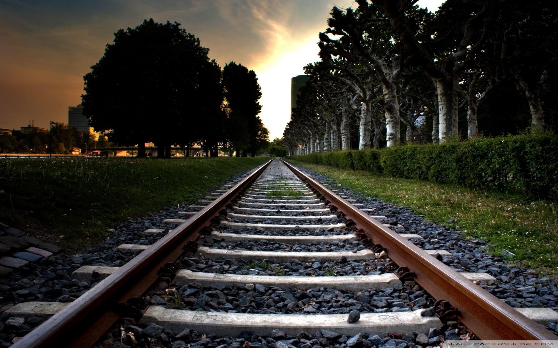 Train Tracks Through Park Picture | Free Photograph