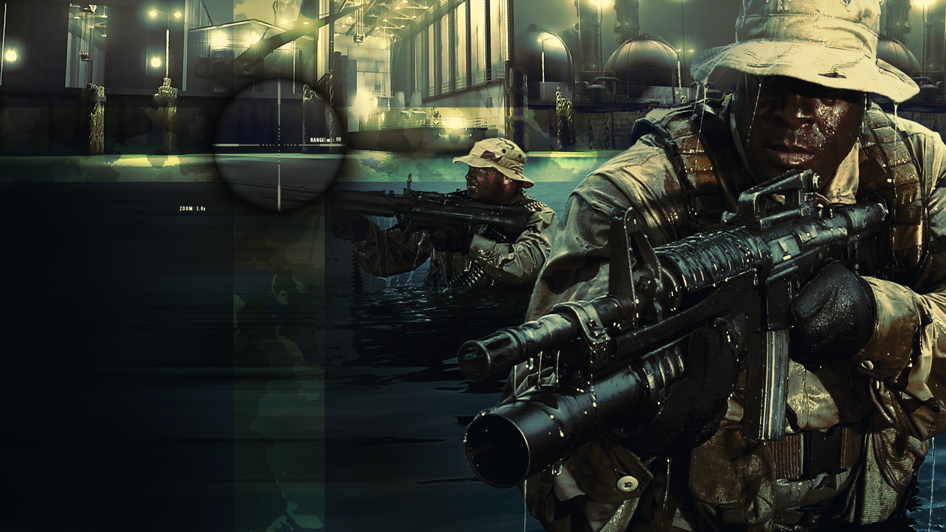 1920x1080 SOCOM 2 Bravo Wallpaper – More Navy SEALs close-ups including in .