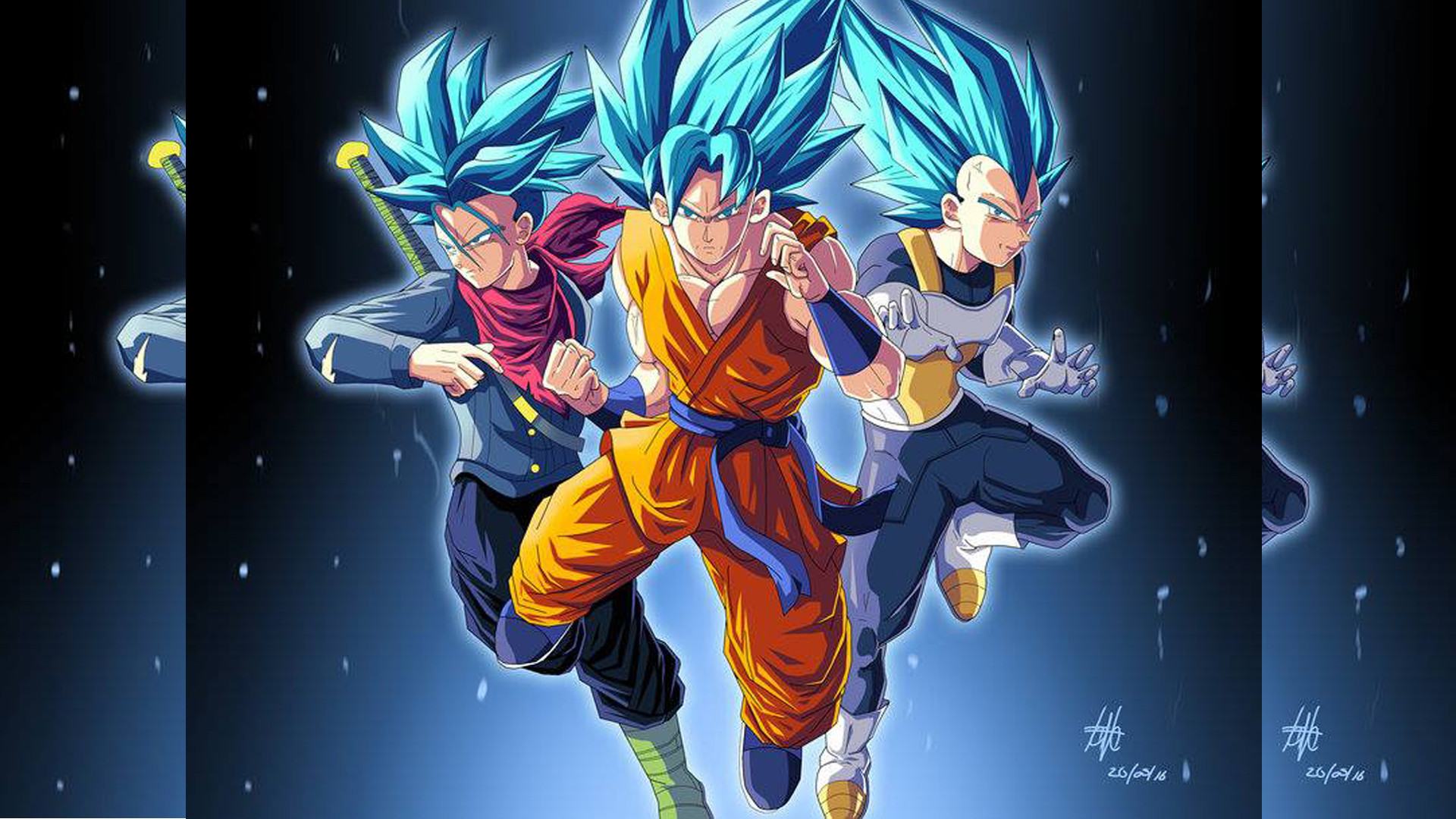 Goku Y Vegeta Ssj Blue Wallpaper Hd Gambarku