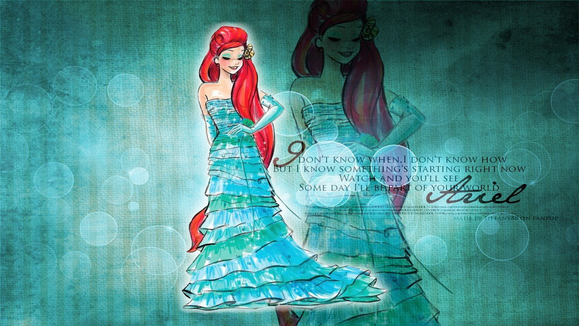 1920x1080 Walt Disney Princess Ariel HD Wallpaper