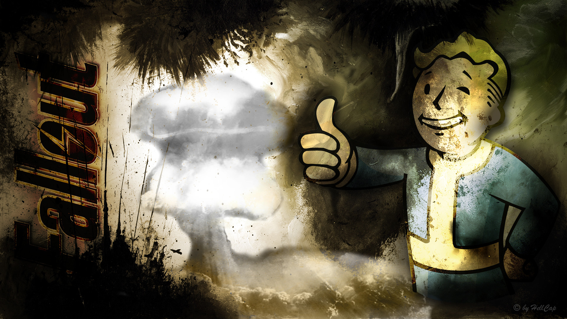 1920x1080 fallout vault boy wallpaper by netbase fan art wallpaper games 2011 .