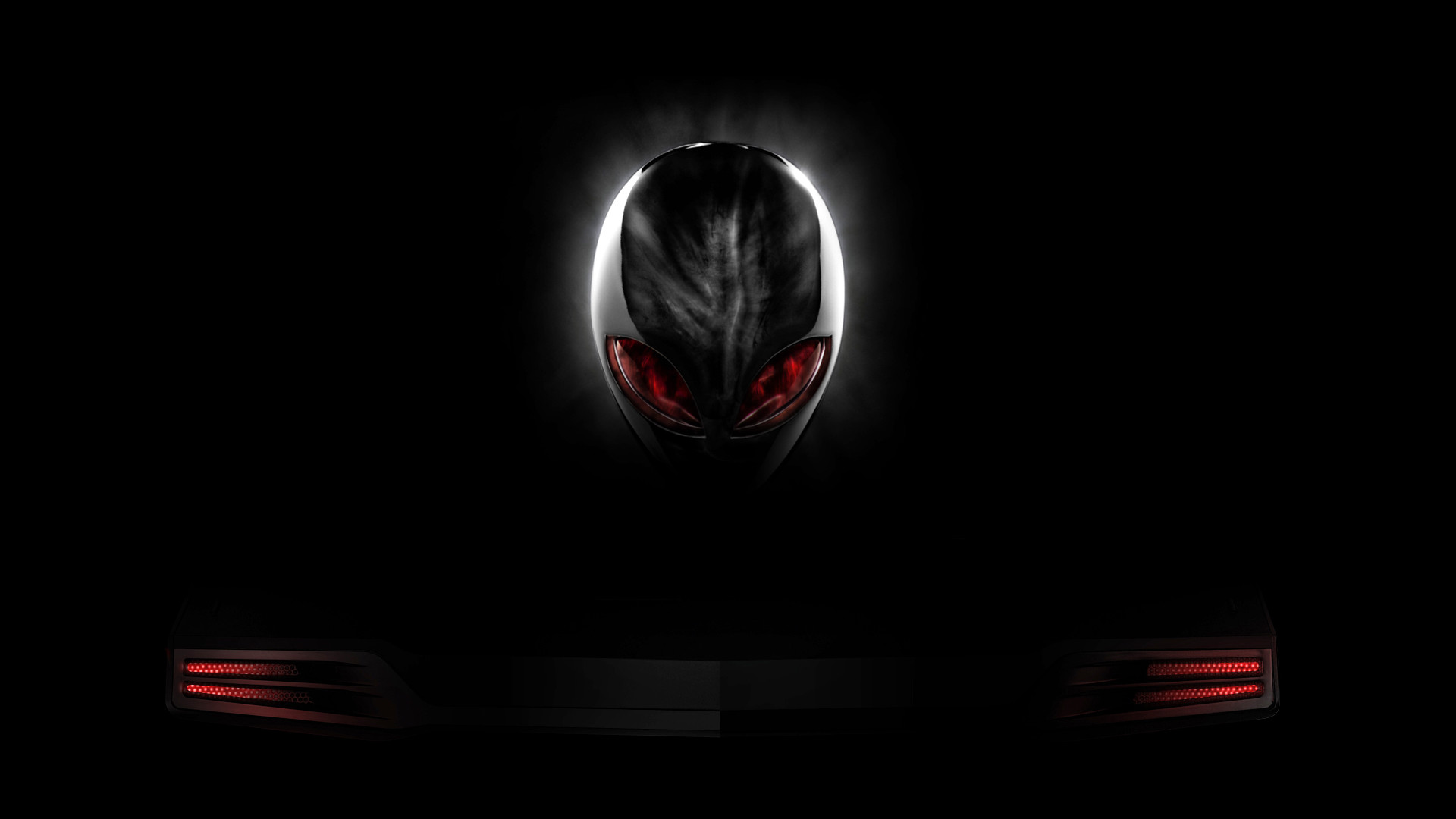 1920x1080 Red And Black Wallpaper 1080p Alienware red eyes logo black