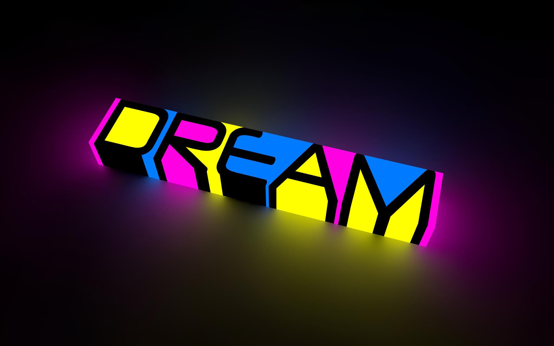 1920x1200 abstract dream color neon bright words letters motivational .