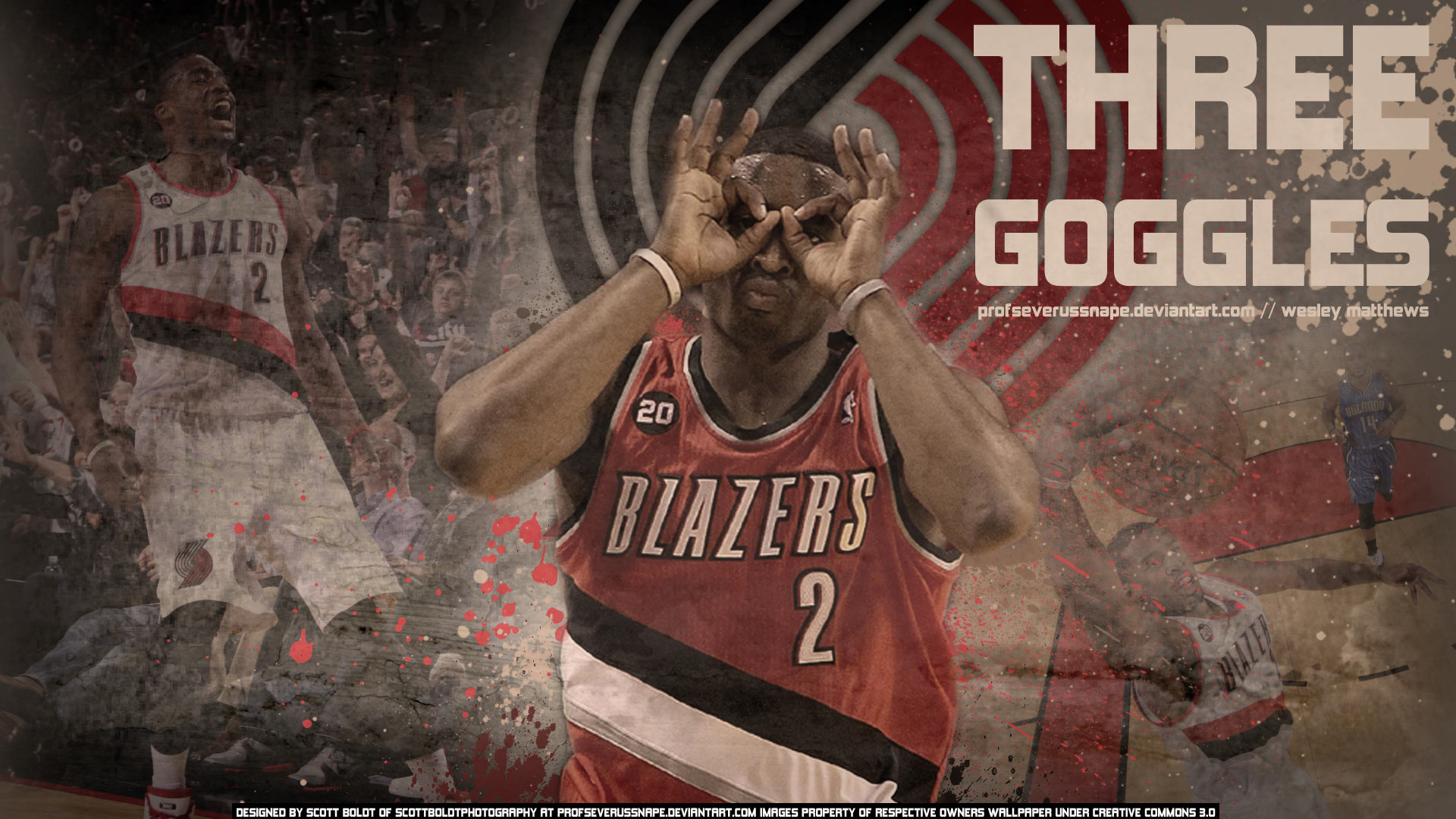 1920x1080 Wesley Matthews Trail Blazers Widescreen Wallpaper