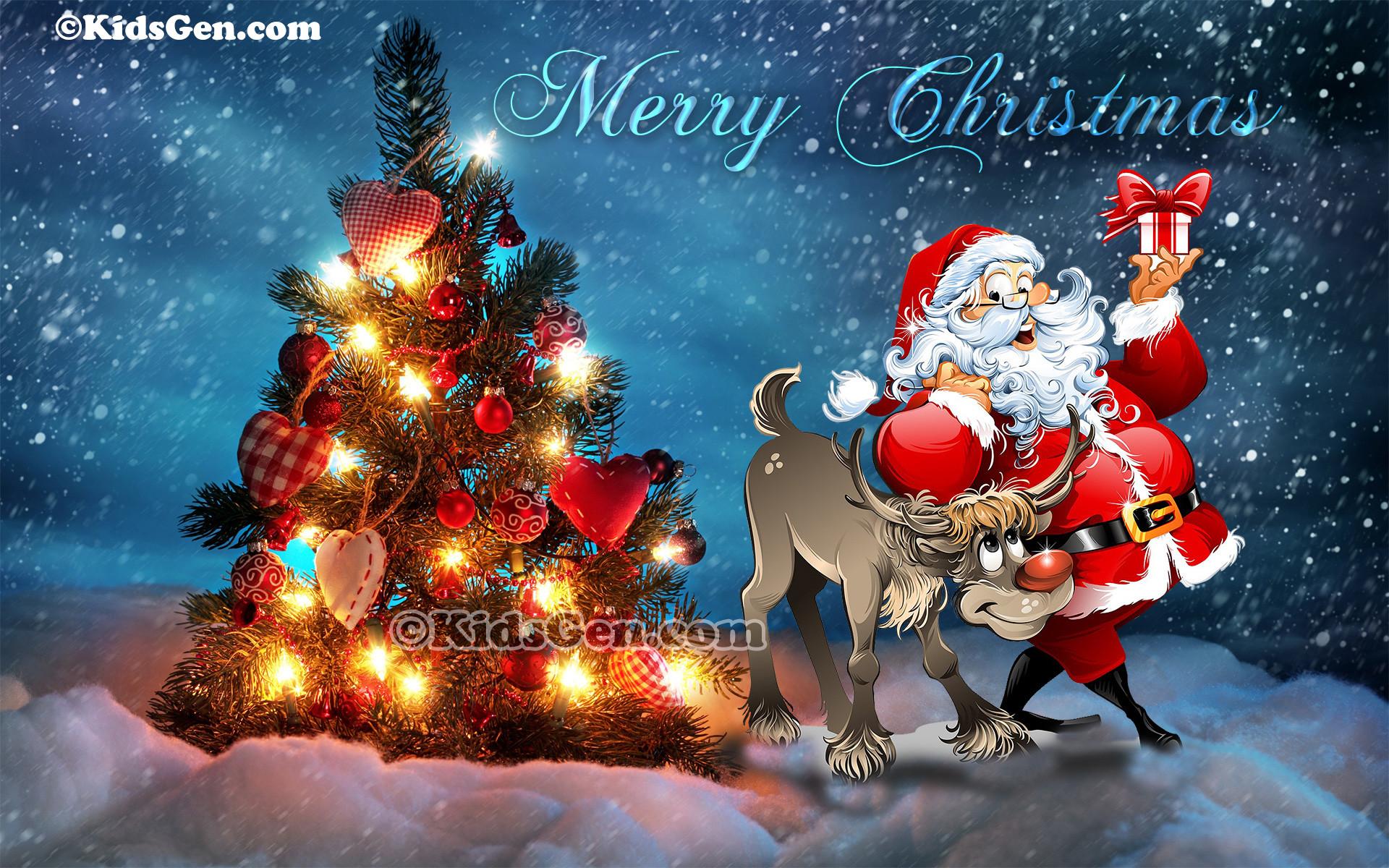 Santa and Baby Jesus Wallpaper 59 images