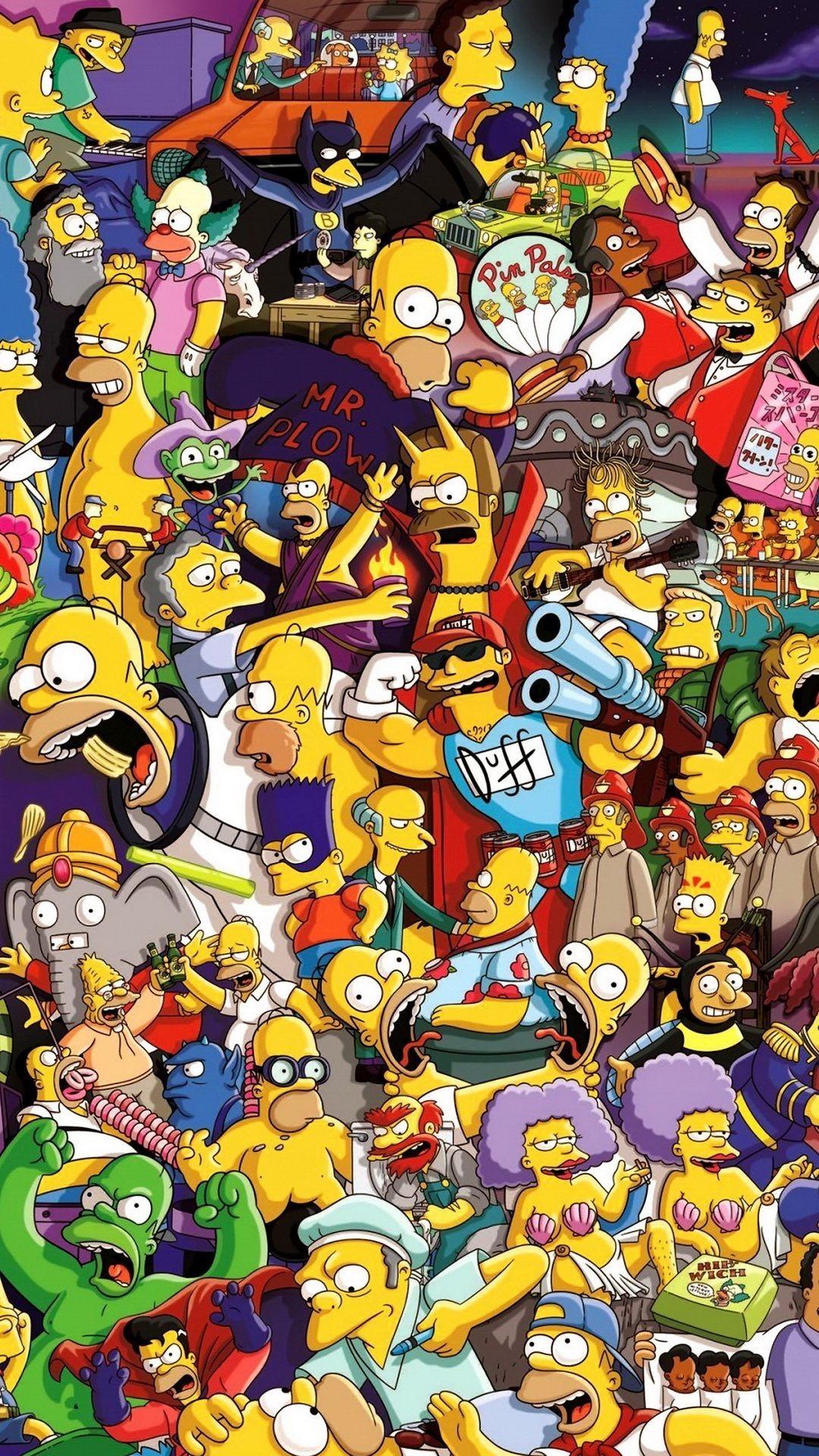 Simpsons christmas wallpaper 63 images - Cartoon character wallpaper ...