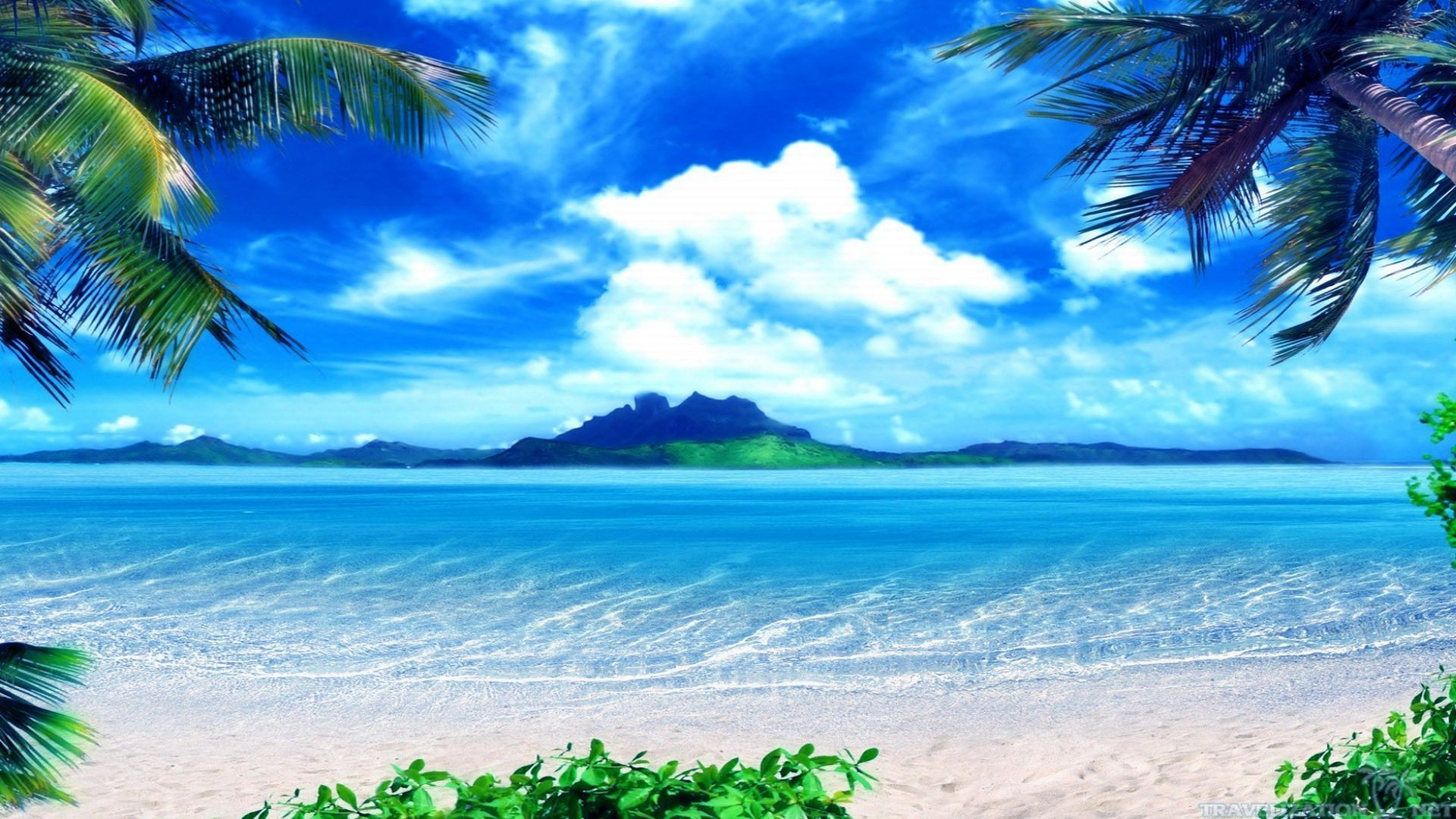 1920x1080 Beach Scene Wallpapers Tropical Themes 1920A 1080