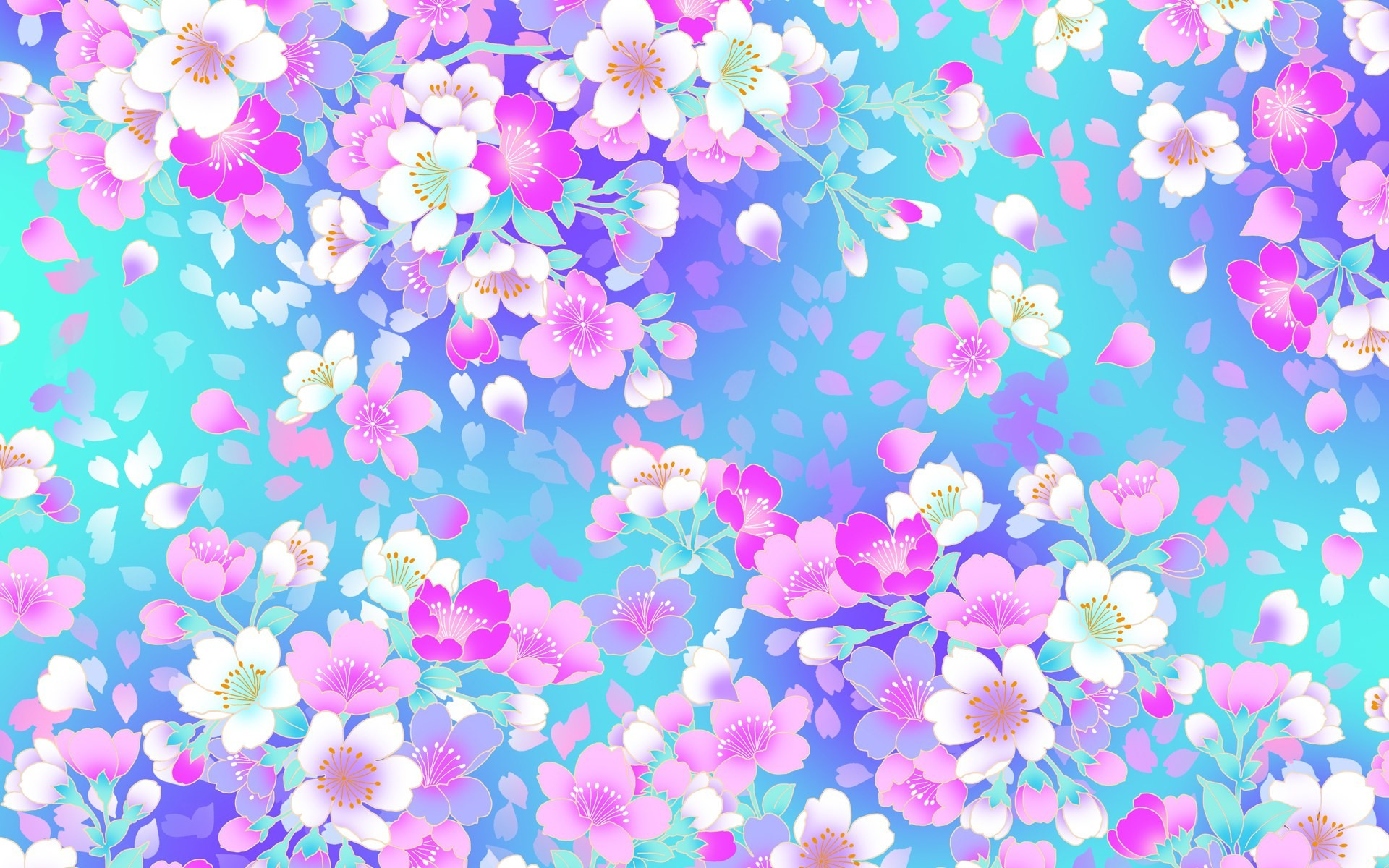 Wallpaper pink and blue flowers 33 images 1920x1200 pink flower wallpaper pattern photo5 mightylinksfo