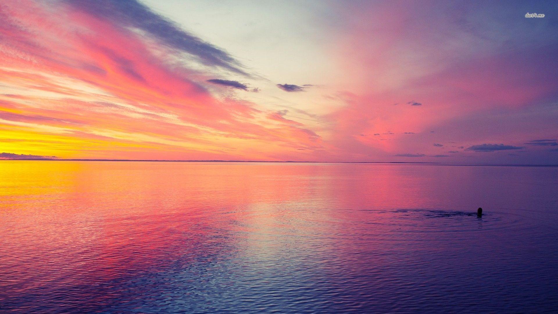 Pink Beach Sunset Wallpaper: Beach Sunset Wallpapers (70+ Images