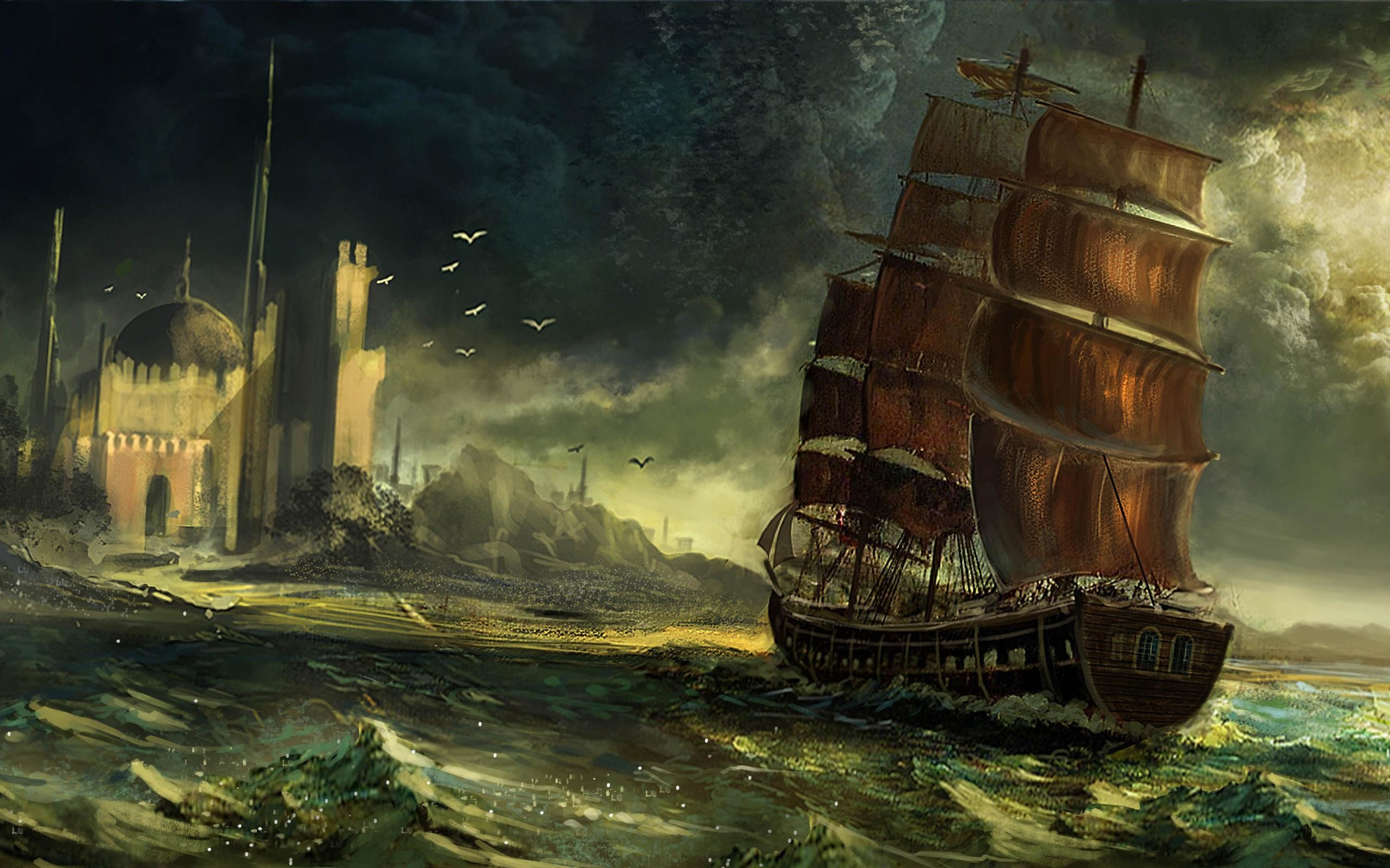 2560x1600 Pirate Ship #k8ni  px 415.63 KB Other ghost pirate ship wallpaper  pirate pirate ship
