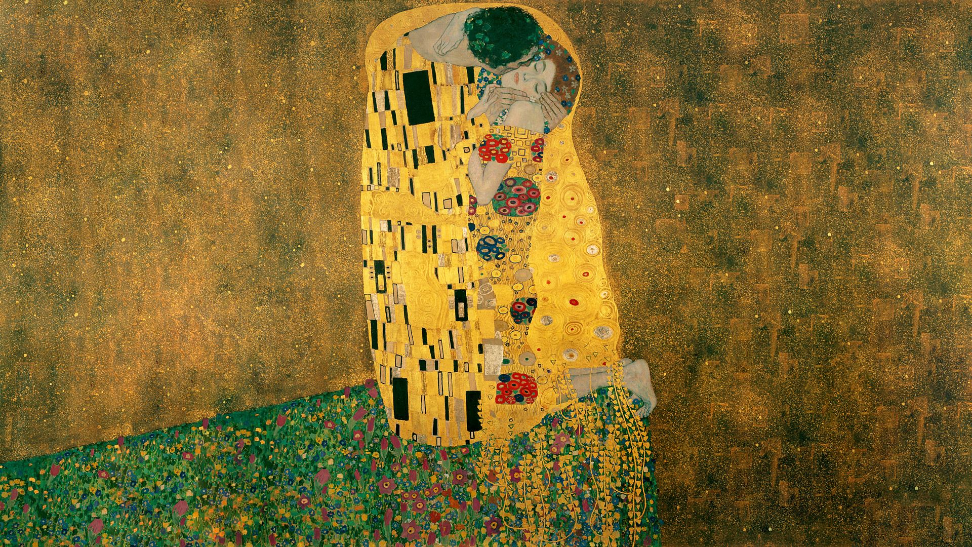 1920x1080 Gustav Klimt - The Kiss [1920 x 1080] ...