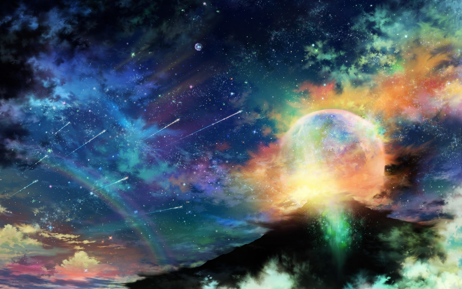 Colorful Space Wallpapers 73 Images