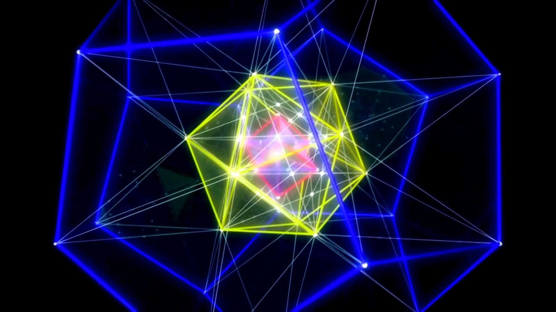 1920x1080 Morphing Platonic Solids Sacred Geometry by ieoie - remastered HD