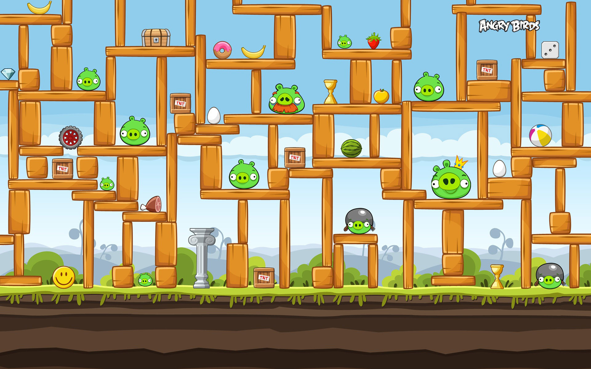 1920x1200 Bild: Angry Birds Construction wallpapers and stock photos. Â«