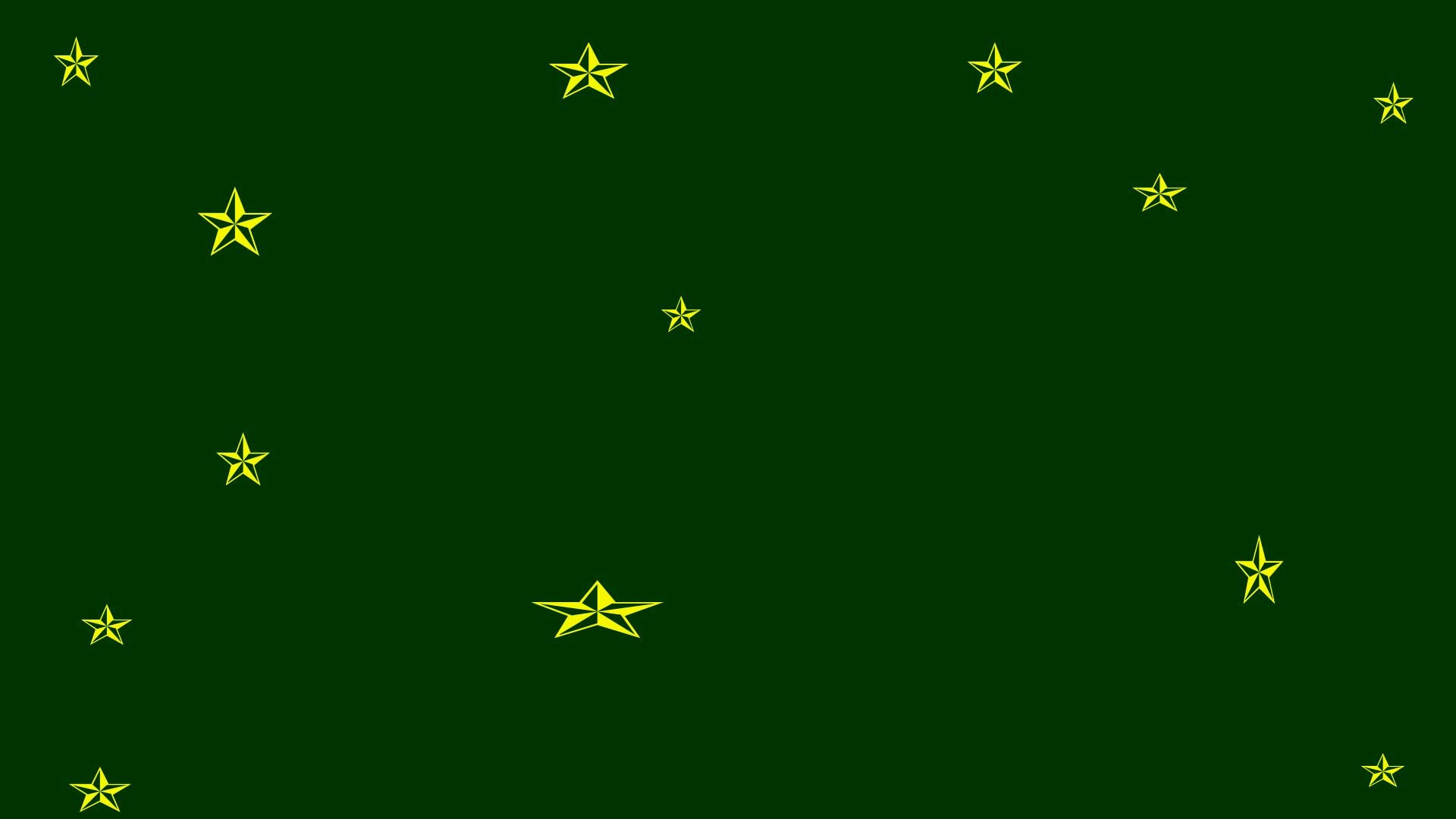 1920x1080 Dark Green Background, Gold Stars - Free