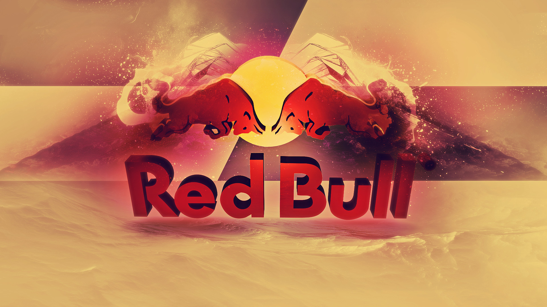 1920x1080 Abstract Red Bull Wallpaper 17891