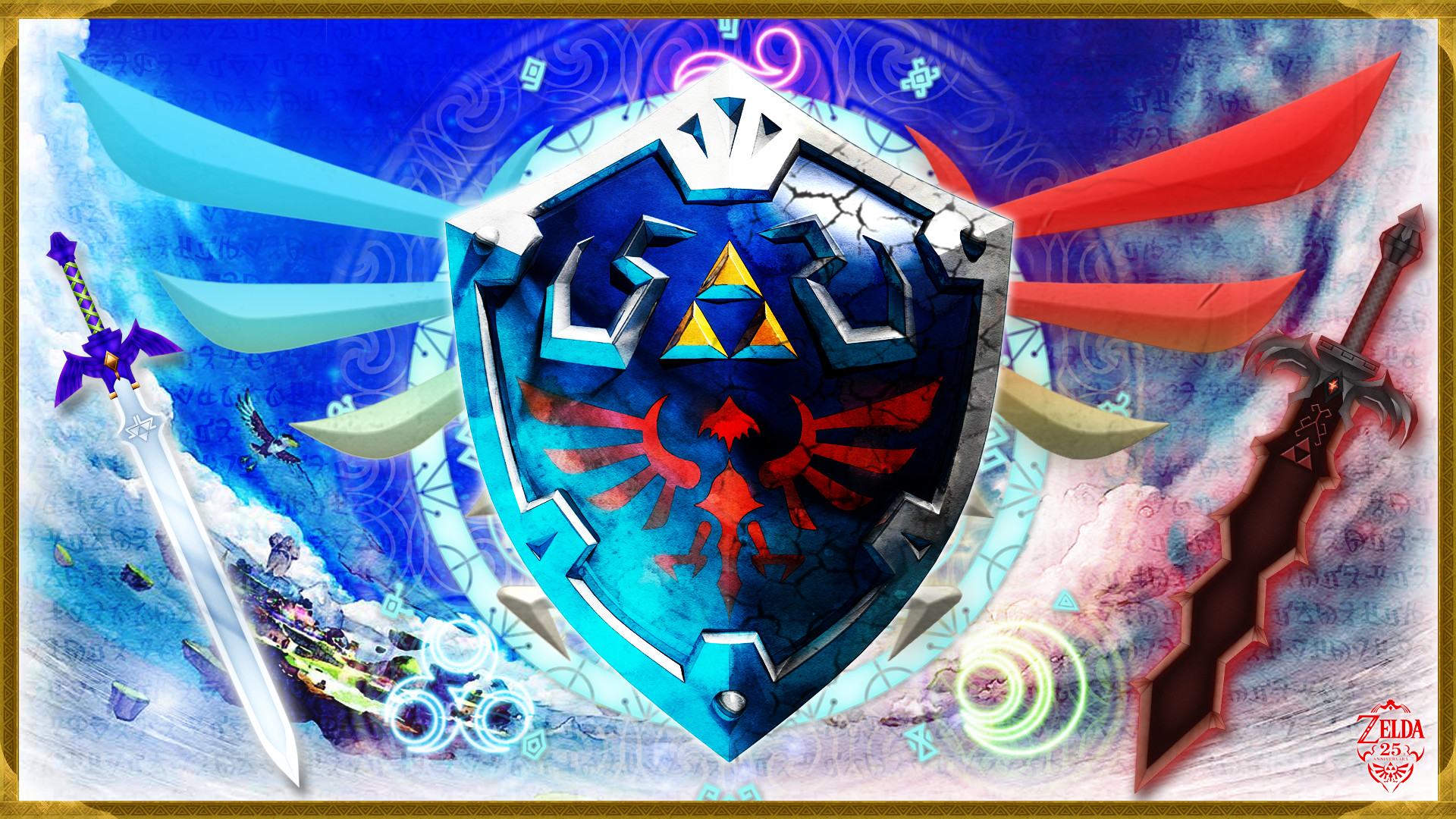 1920x1080 Video Game - The Legend Of Zelda: Skyward Sword Link Zelda Shield Hylian  Wallpaper