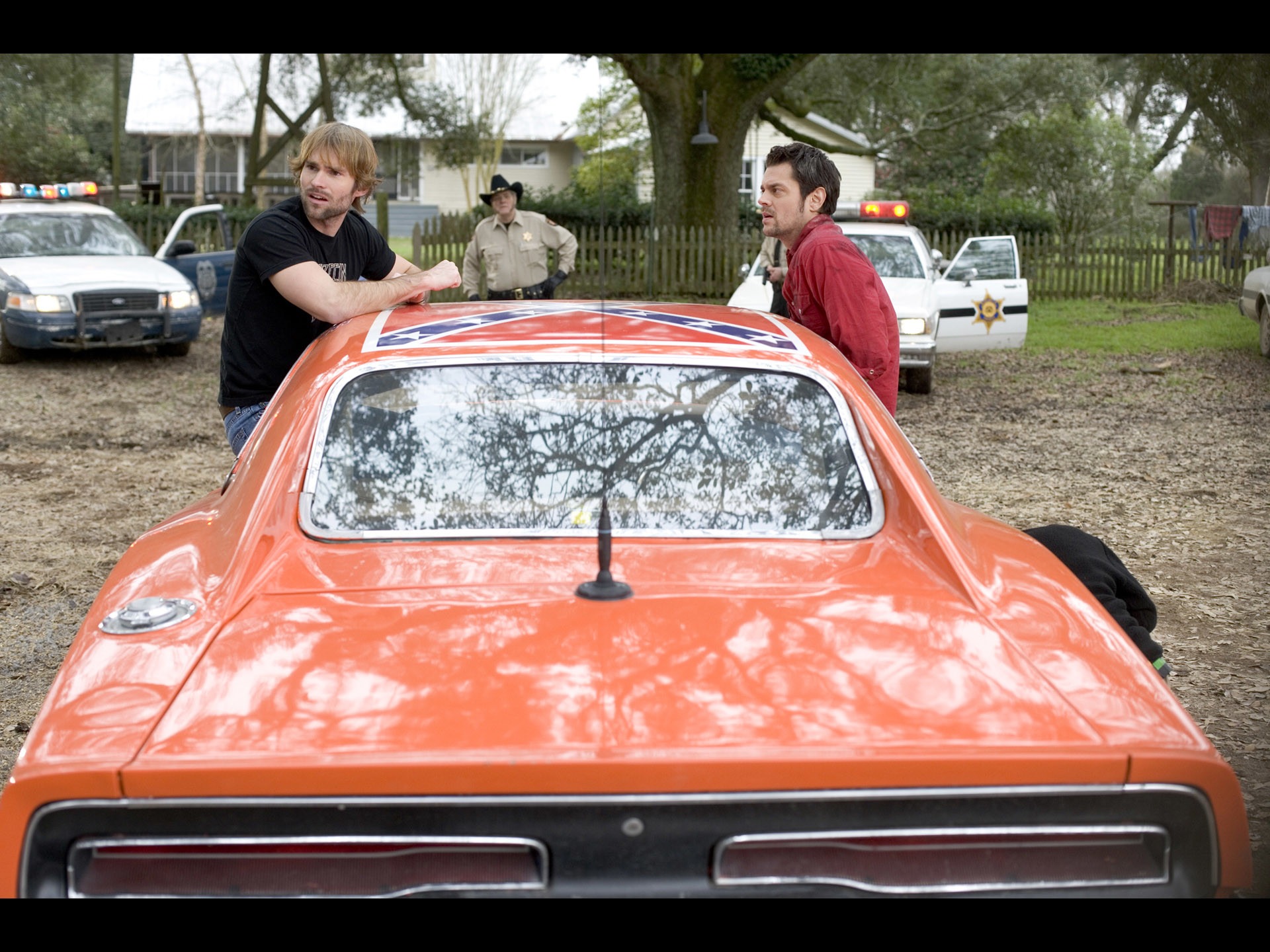 "1920x1440 1969 Dodge Charger - General Lee from "" The Dukes of Hazzard"" Movie - Rear  - Seann William Scott & Johnny Knoxville -  Wallpaper"