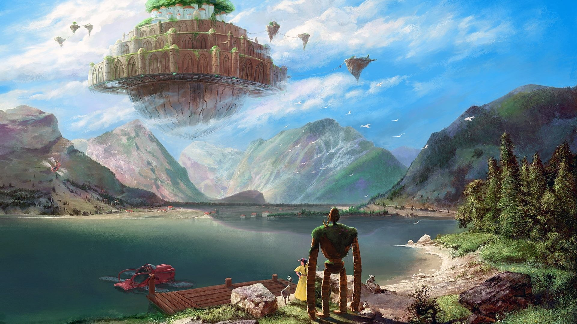 1920x1080 laputa castle in the sky studio ghibli HD Wallpaper - M9Themes