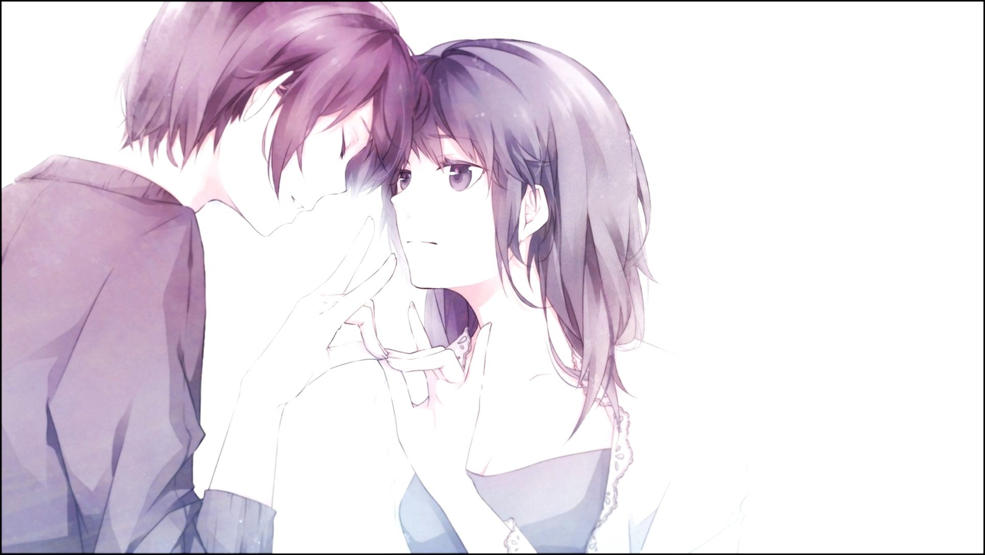 Anime Images Wallpaper Love Couples Couple Hd Wallpaper: Cute Anime Couple Wallpaper (70+ Images
