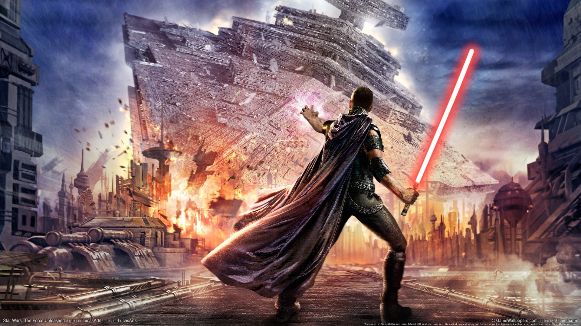 1920x1080  Wallpaper star wars, the force unleashed, lightsaber