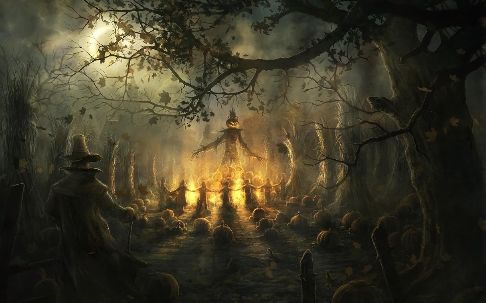 2560x1600 spooky halloween wallpaper