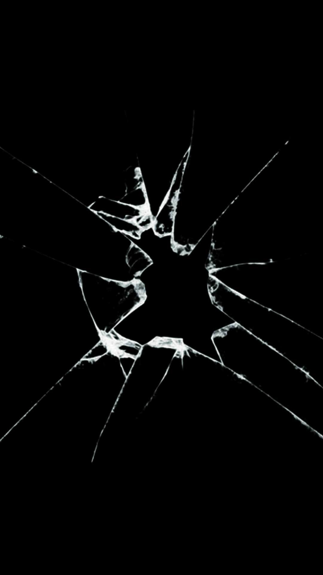 crack screen iphone wallpaper