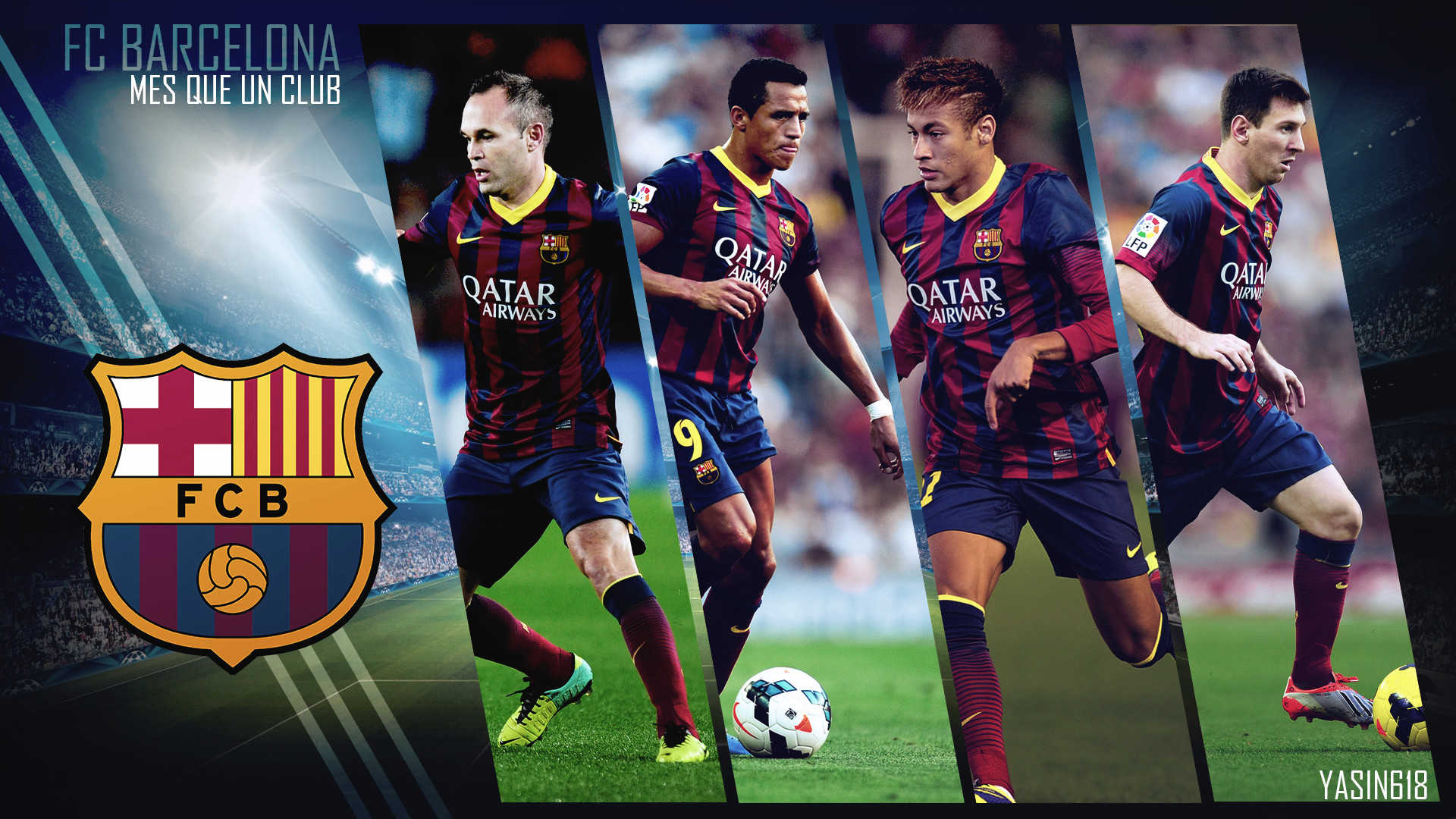 1920x1080 ALL SPORTS CELEBRITIES: FC Barcelona Players New HD Wallpapers 2013
