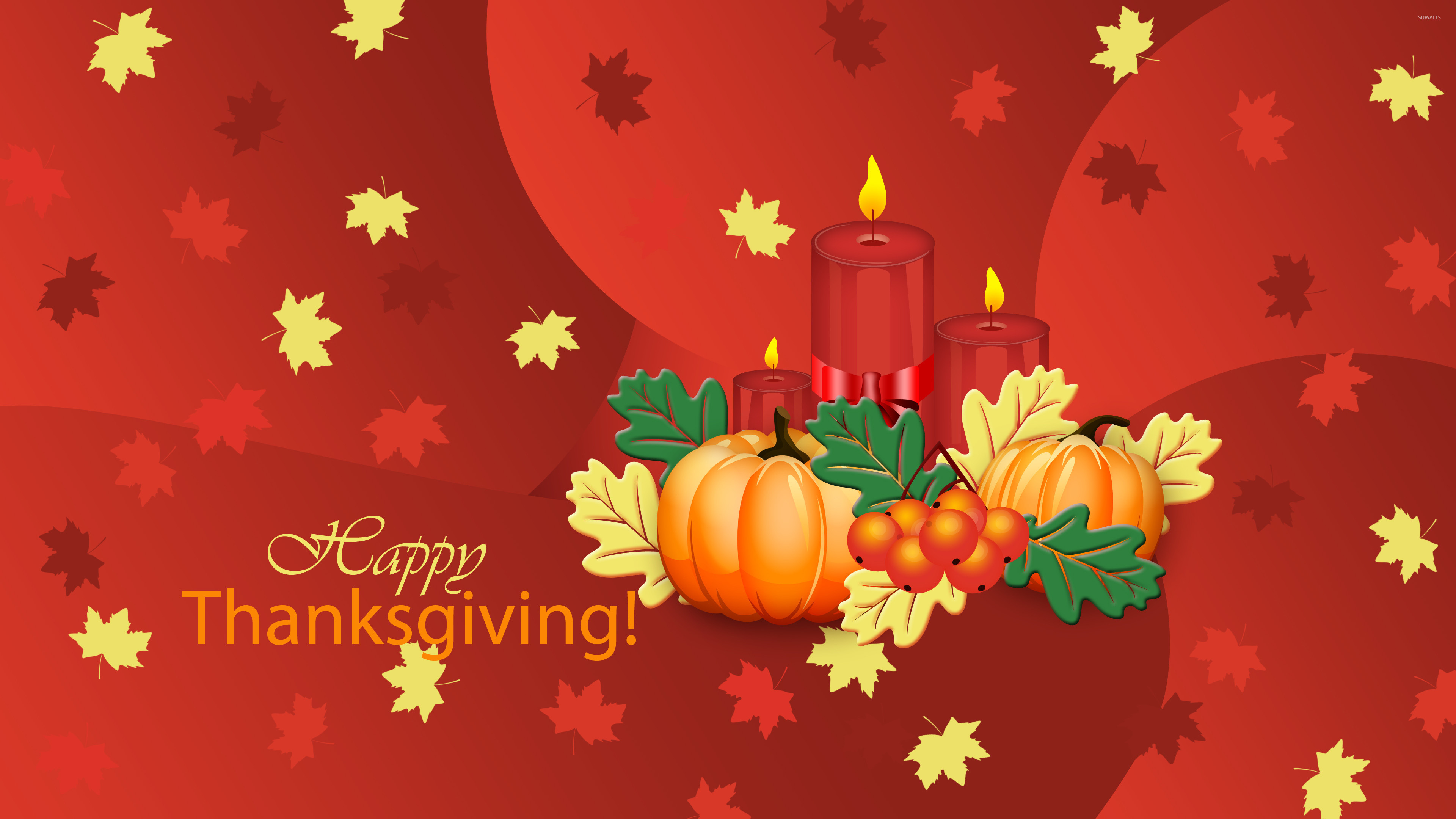3840x2160 Pumpkins and candles on Thanksgiving wallpaper  jpg
