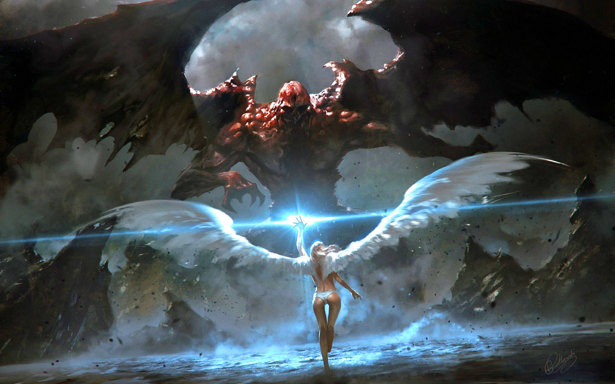2560x1600 Angel Fighting Demons Wallpapers, Angel Fighting Demons Backgrounds, Angel  Fighting Demons Images, Free