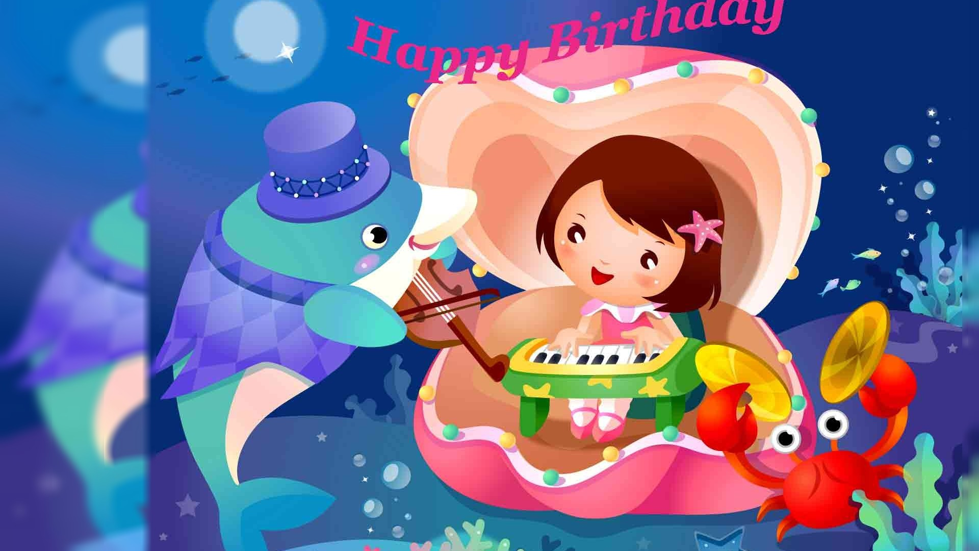 1920x1080 Cute animated happy birthday HD wallpapers free download