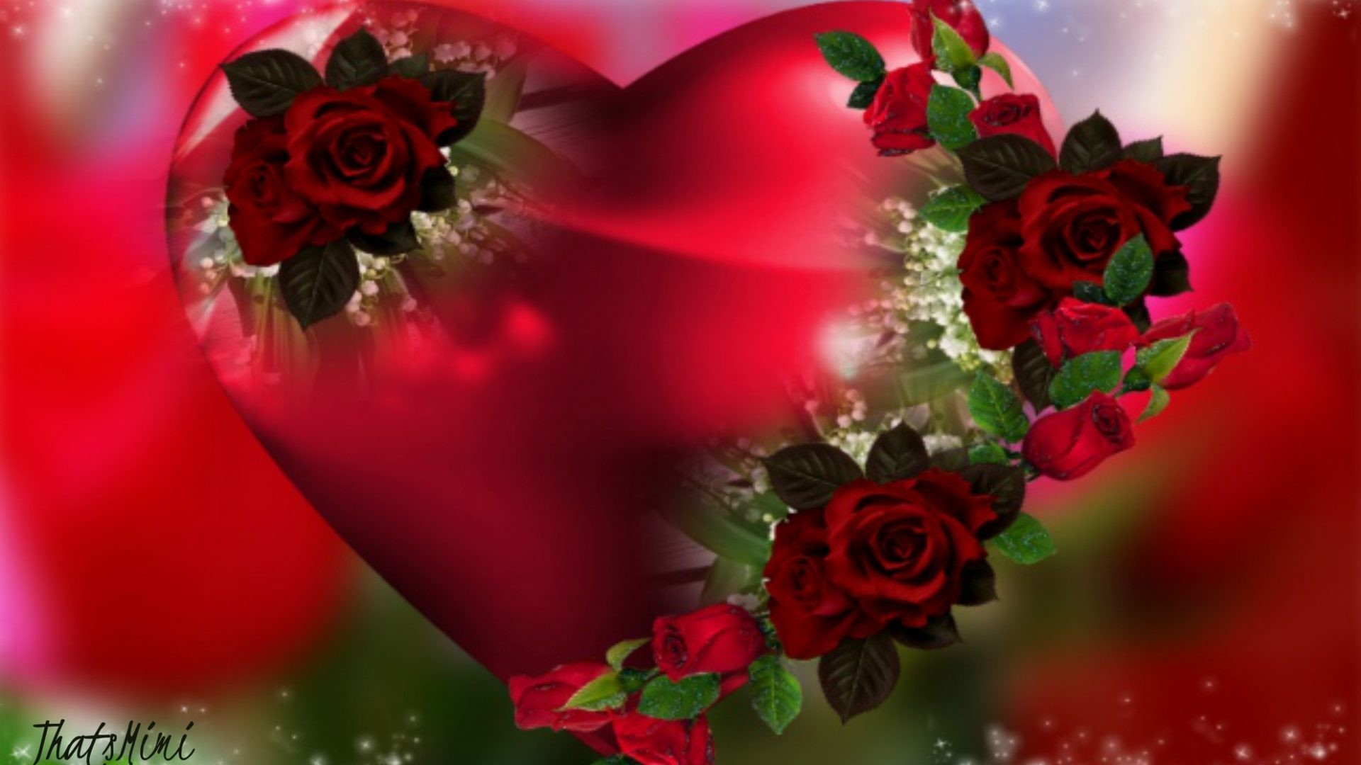 1920x1080 Heart Tag - Heart Flower Valentine Beautiful Romantic Roses Pretty Red Love  Flowers Wallpapers New for