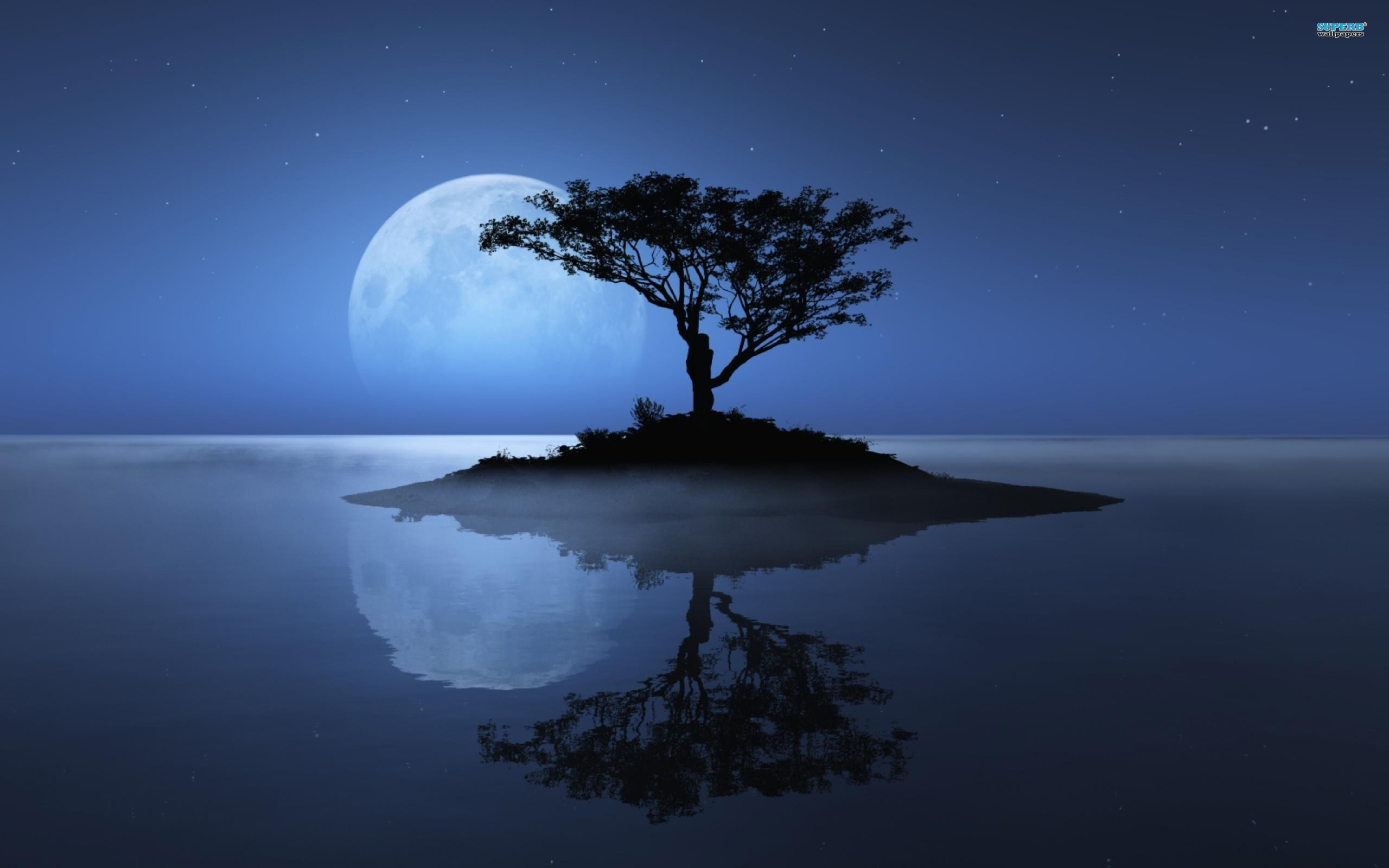 2560x1600 blue moon tree river desktop background background images mac apple  colourful cool desktop wallpapers high definition 4k 2560×1600 Wallpaper HD