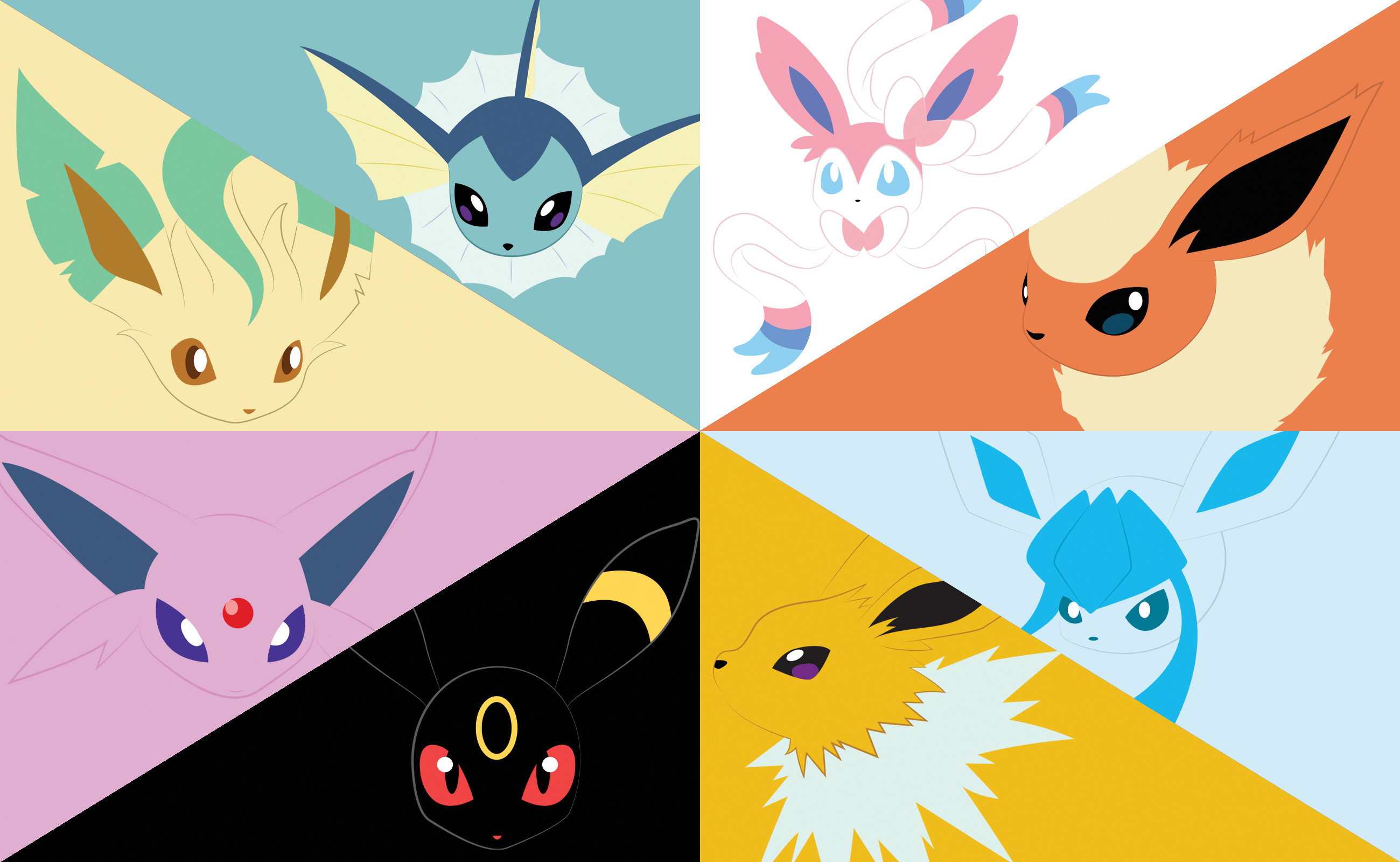 2600x1600 DeviantArt: More Like Eevee Evolutions by Jhonaatan