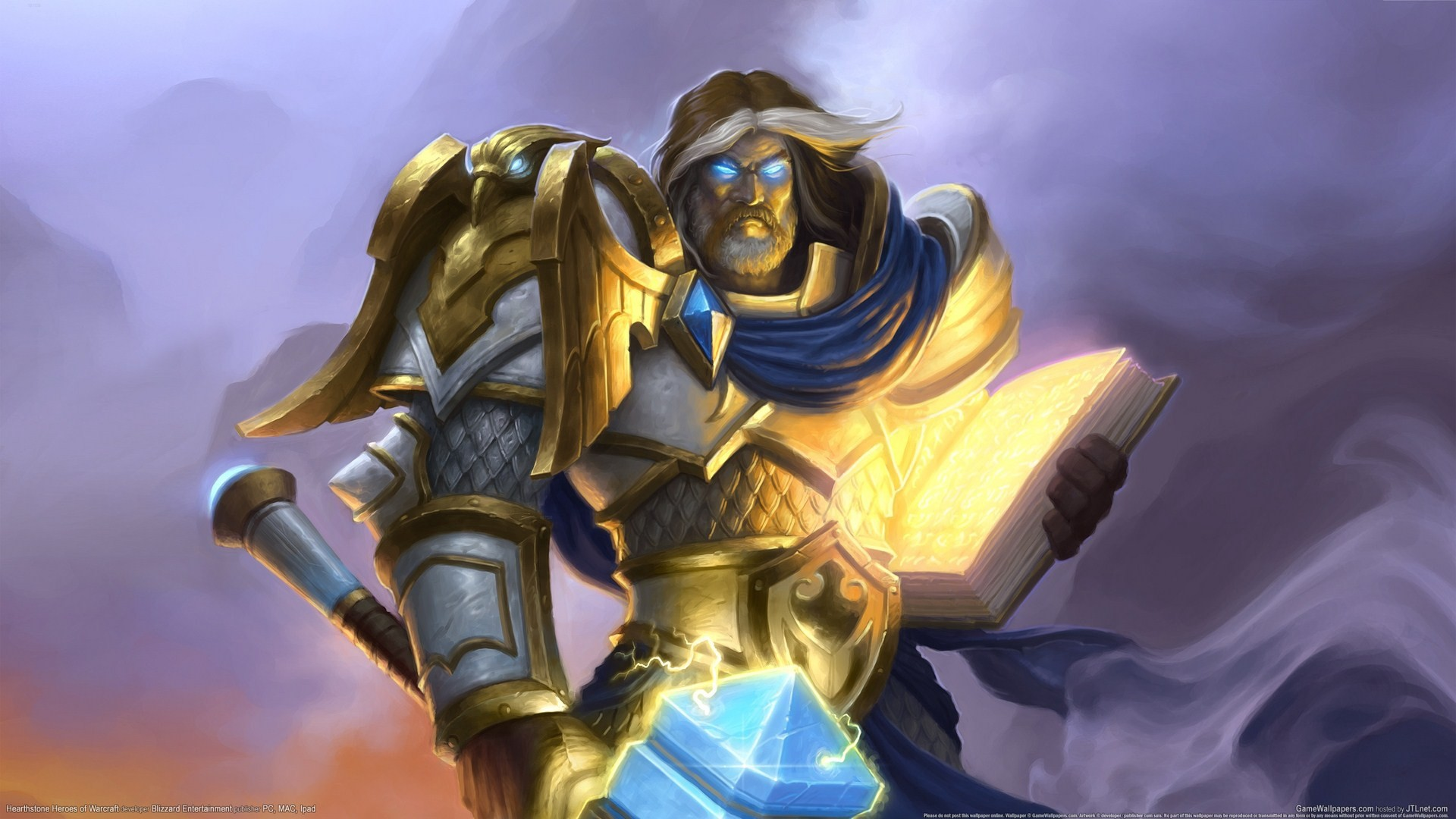 1920x1080  Wallpaper paladin, hearthstone, uther