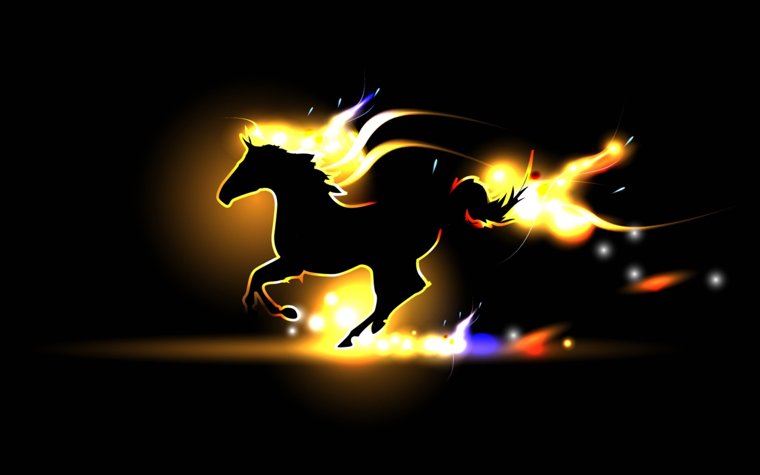 Nice 2560x1600 Horse Gait Flame Fire GRIVA Silhouette Wallpaper | 2560x1600 |  489738 | WallpaperUP