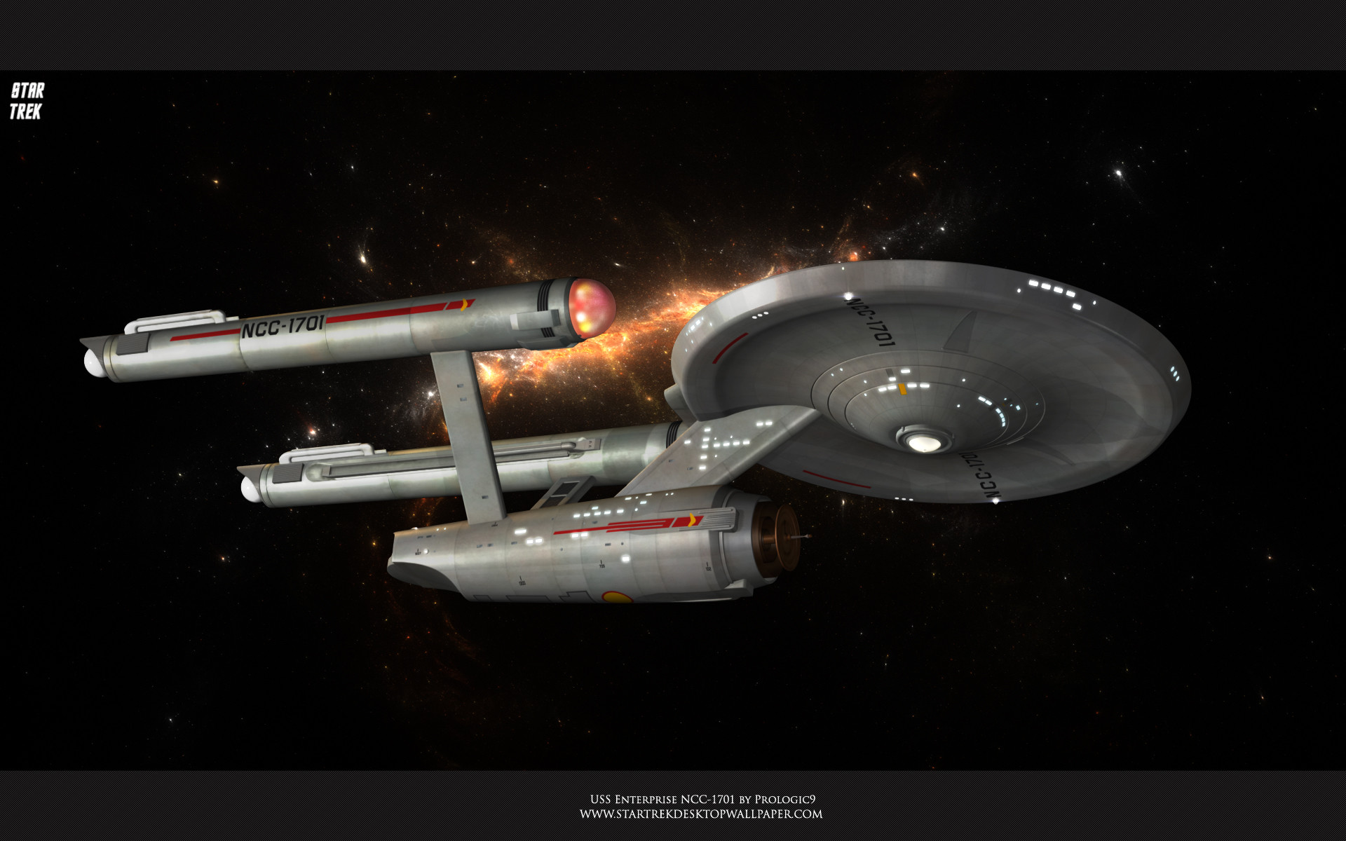 1920x1200 Sci Fi - Star Trek Star Trek: The Original Series Spaceship Wallpaper