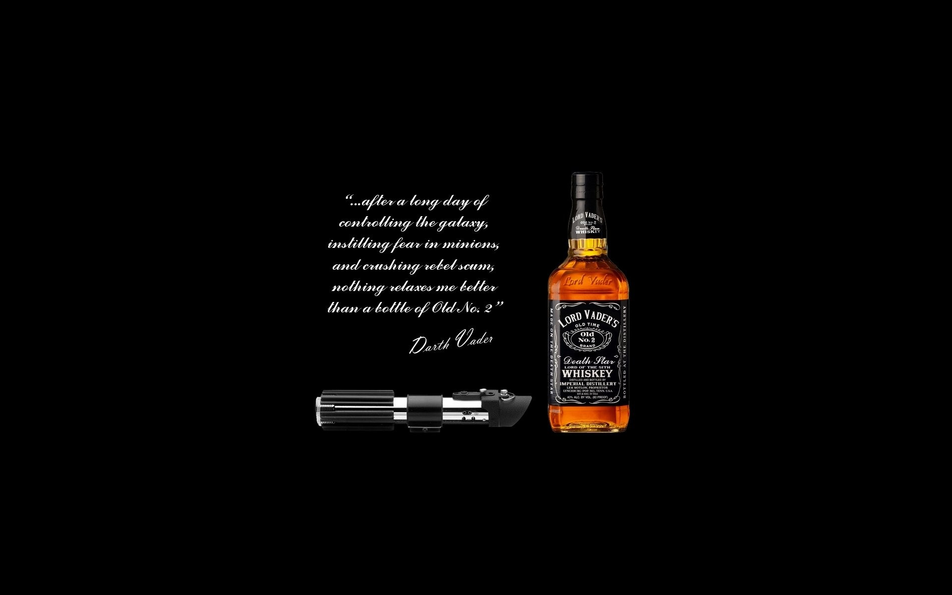 1920x1200 Humor - Movie Humor Star Wars Black Alcohol Darth Vader Whisky Lightsaber  Wallpaper