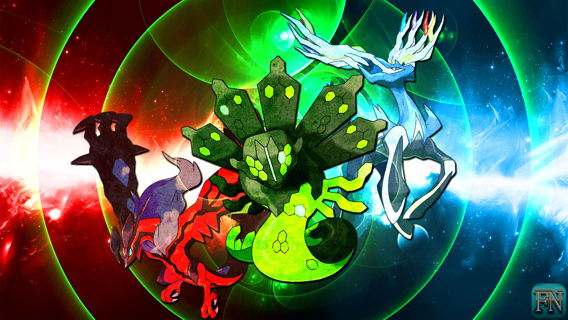 1920x1080 ... Pokemon Wallpaper: Xerneas Yveltal and Zygarde by FRUITYNITE