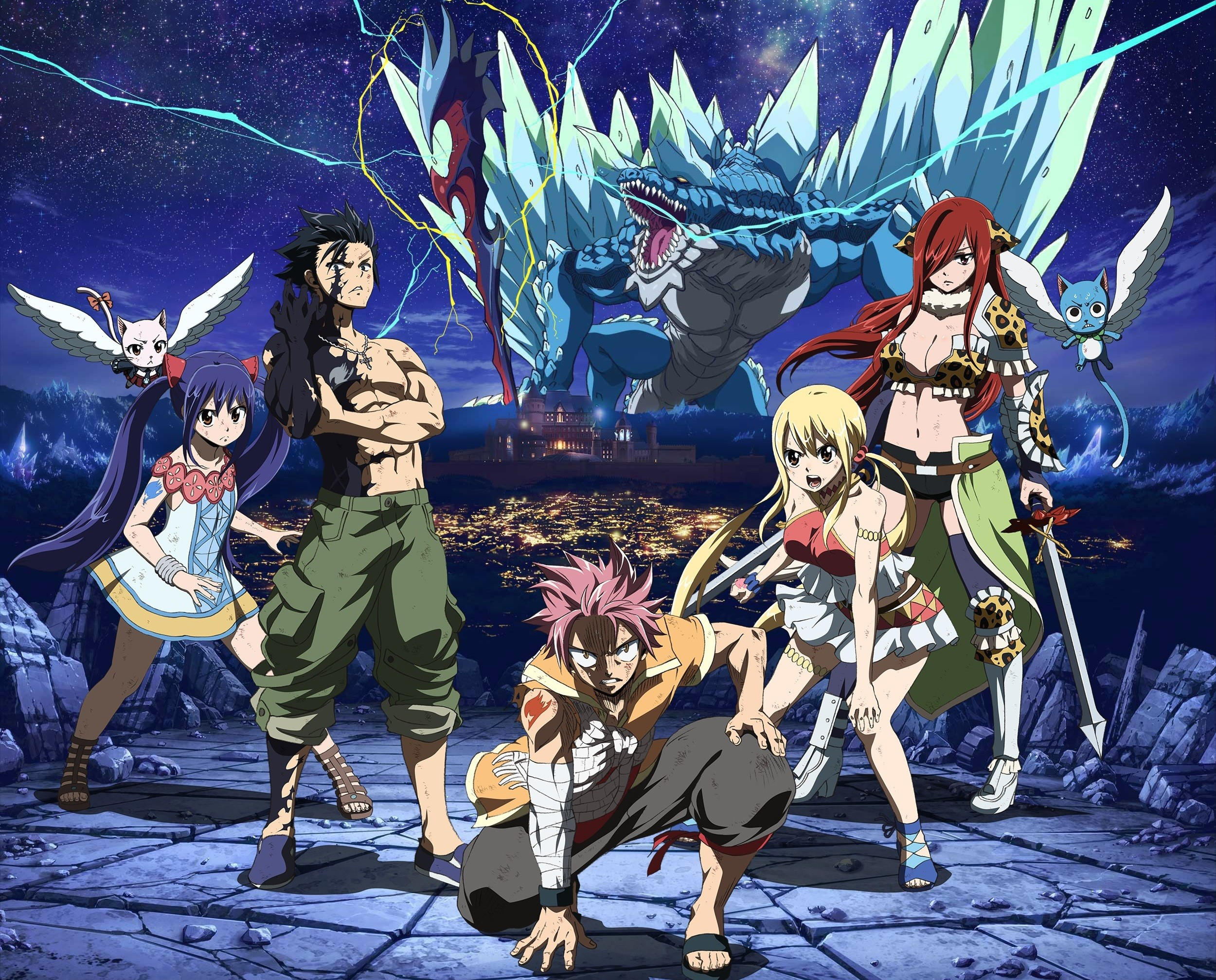 2500x2016 Natsu Dragneel, Wendy Marvell, Lucy Heartfilia, Erza Scarlet, Fairy Tail, Gray  Fullbuster wallpaper and background