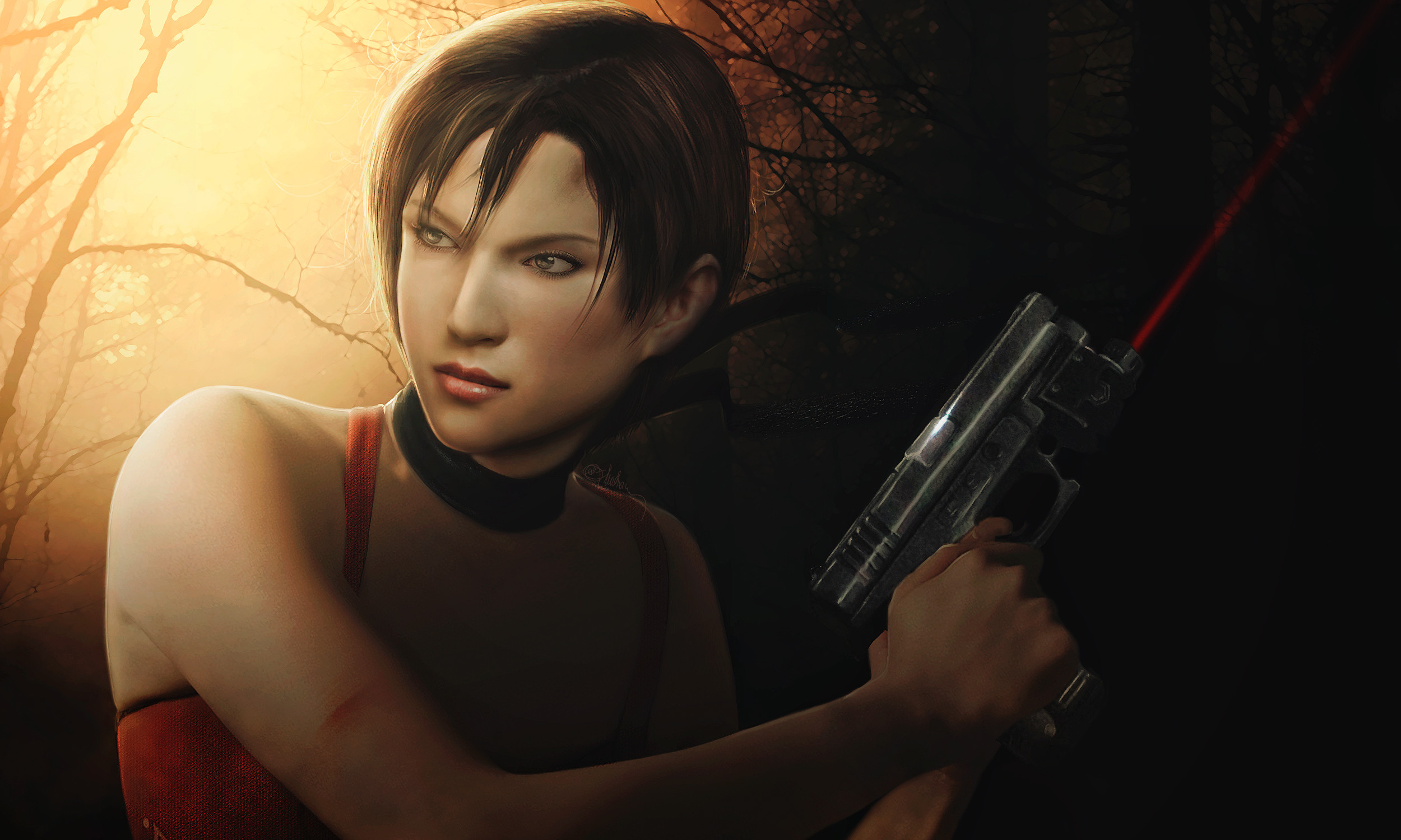 2500x1500 ... Photorealistic Ada Wong RE4 wallpaper  px by push-pulse