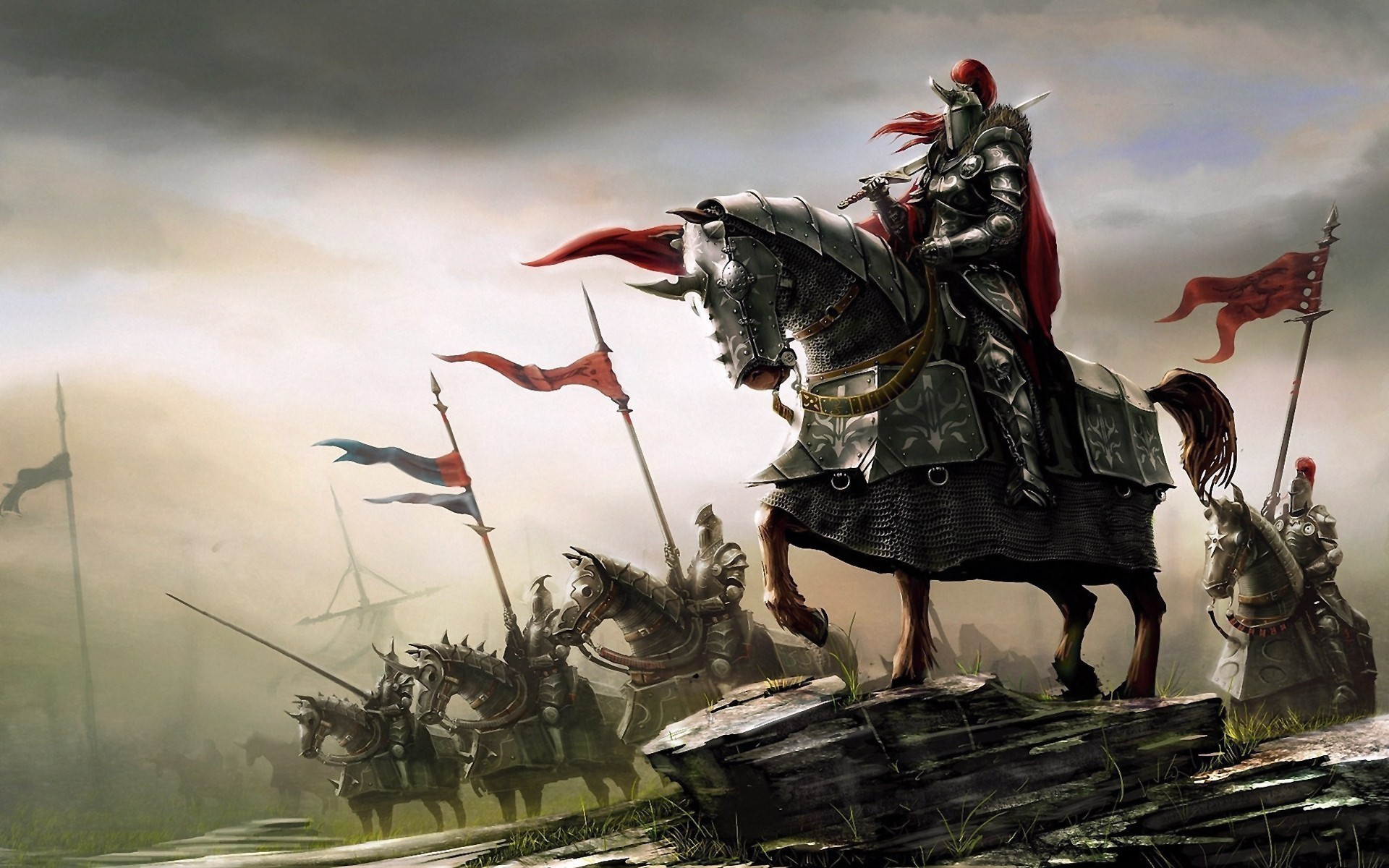 1920x1200 fantasy Art, Knight, Knights, Medieval Wallpapers HD / Desktop and Mobile  Backgrounds