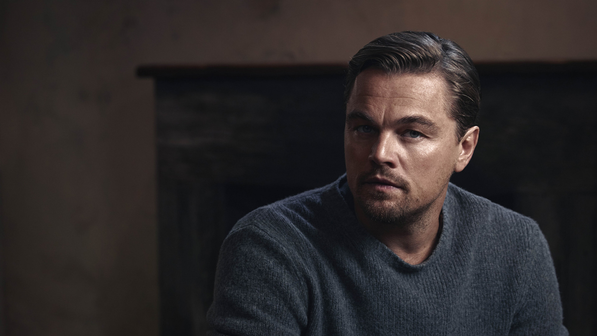 1920x1080 Preview wallpaper leonardo dicaprio, actor, sweater
