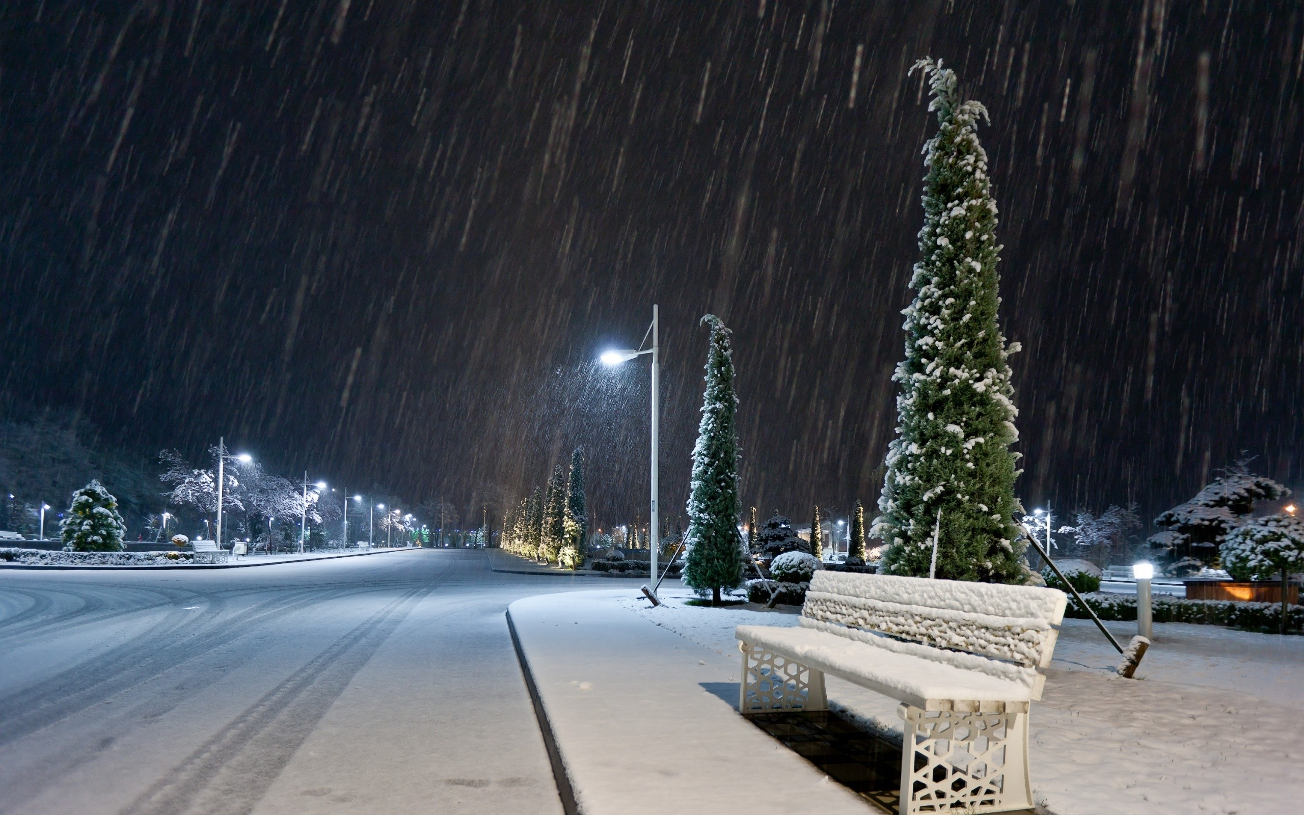 Night Snow Wallpaper Background 56 Images