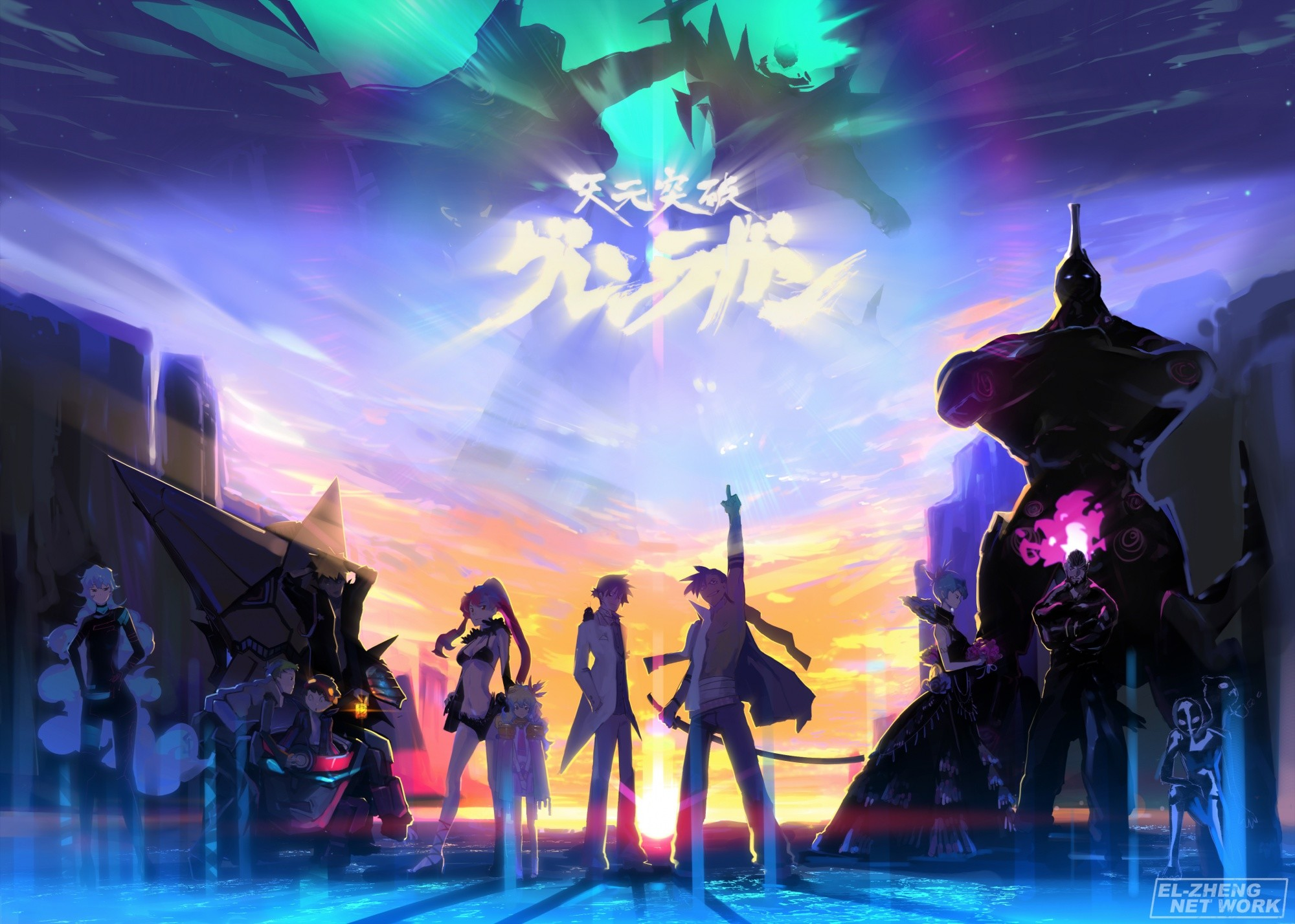 2000x1428 Download Gurren Lagann Wallpapers Desktop High.