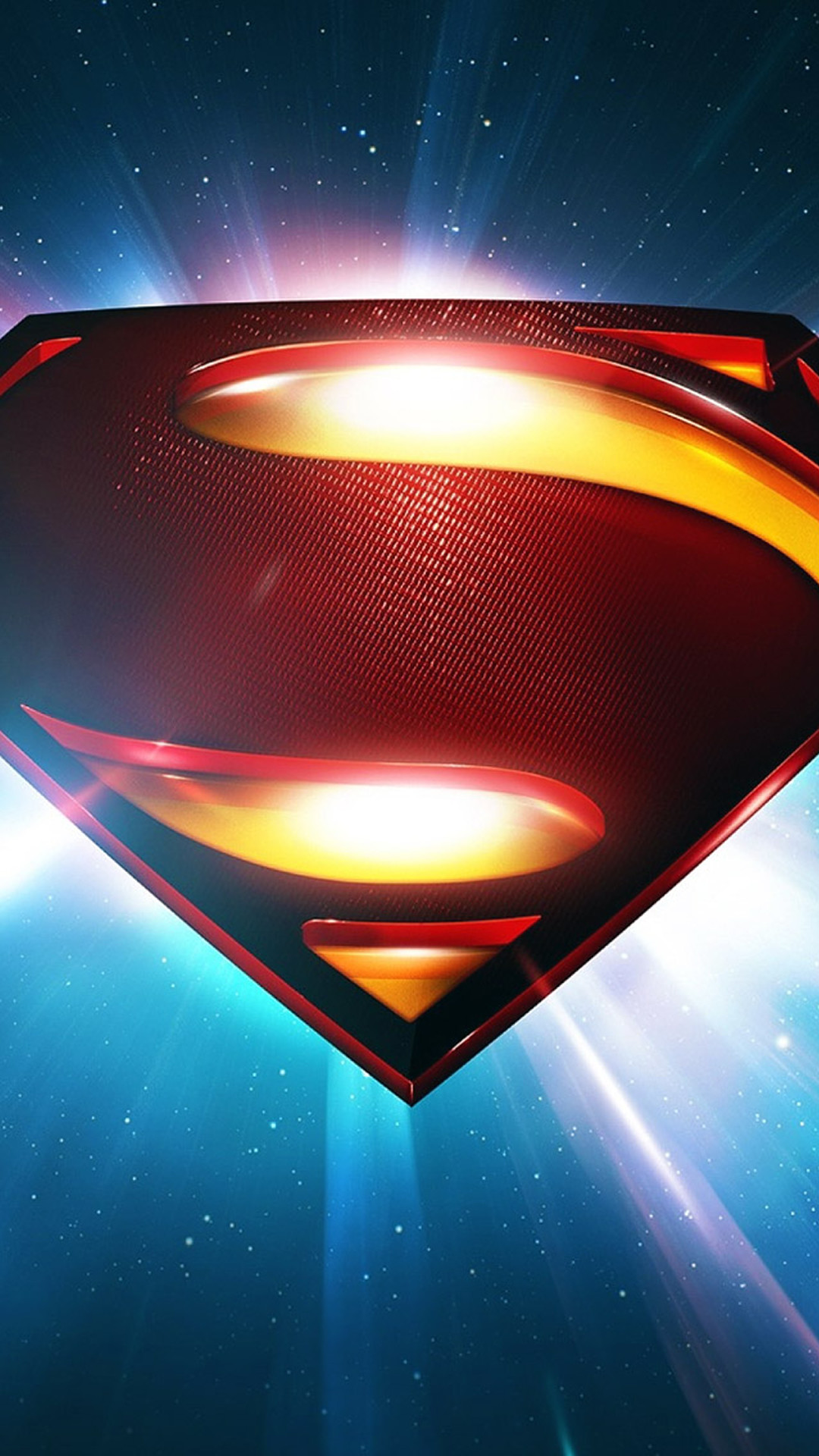 1080x1920 Superman Space Logo Man Of Steel iPhone 6 wallpaper