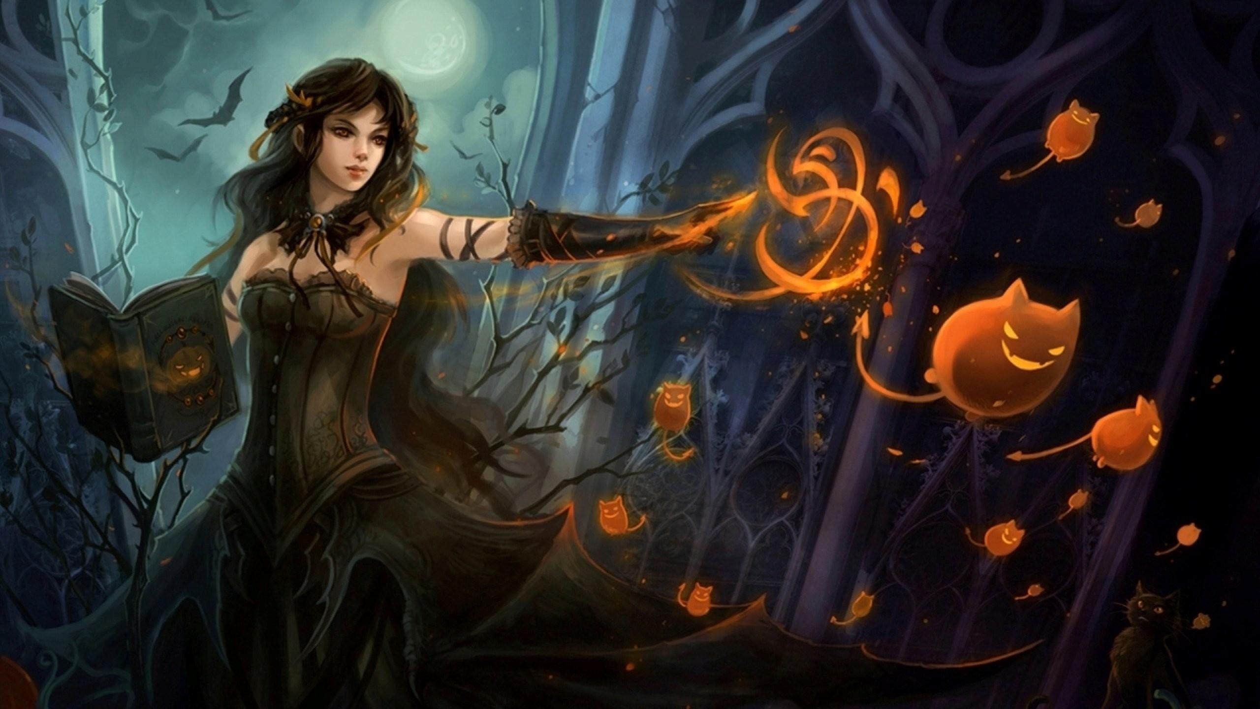 Fire Mage Female Fantasy Art