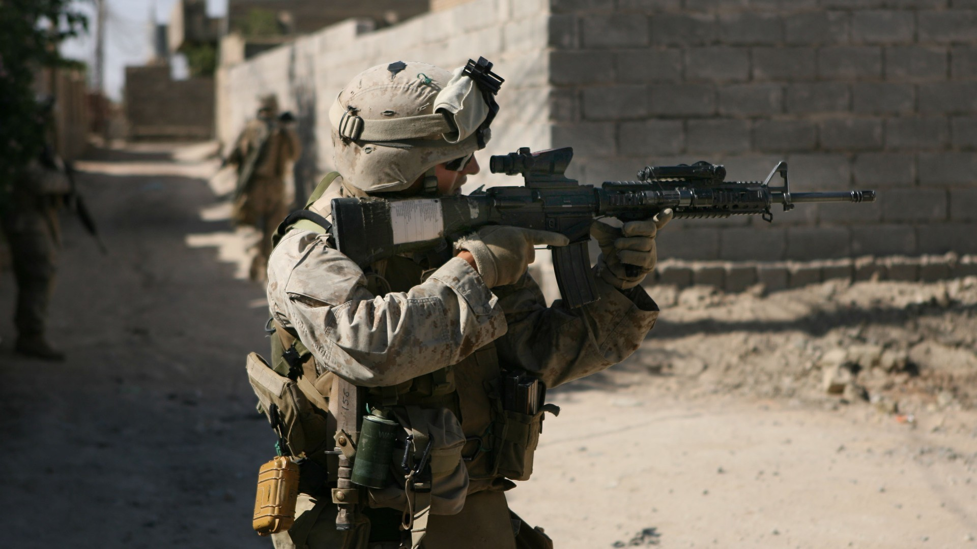 1920x1080 Guns US Marines Corps M16A4 ACOG Desktop And Mobile Wallpaper